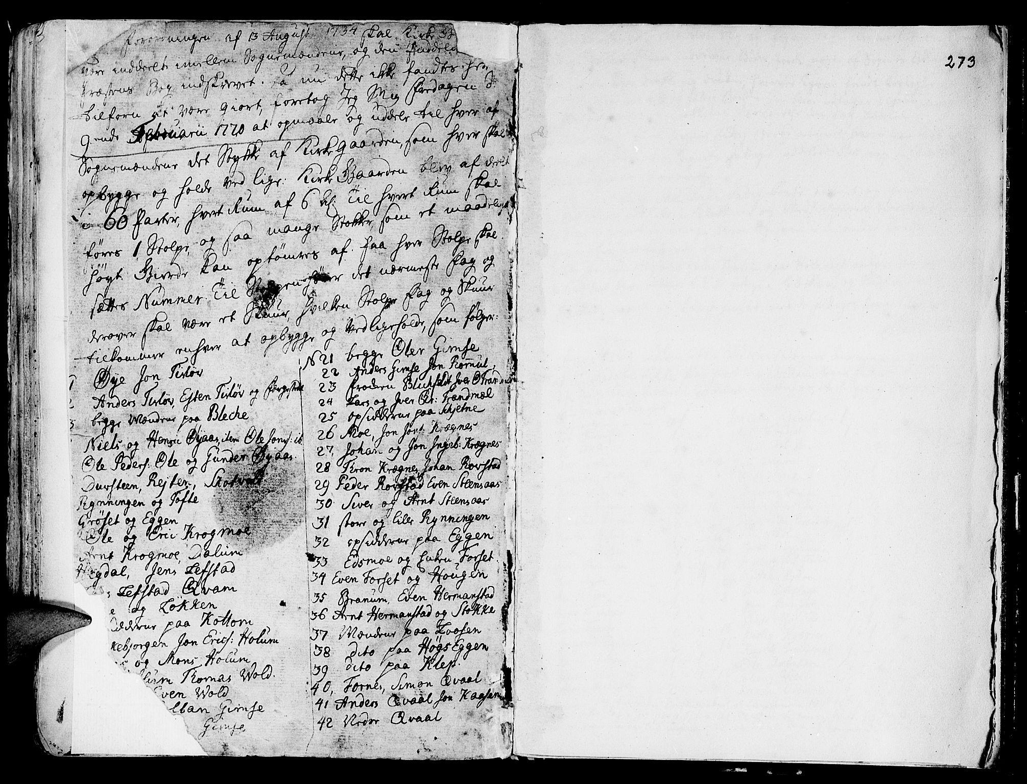 SAT, Ministerialprotokoller, klokkerbøker og fødselsregistre - Sør-Trøndelag, 691/L1061: Ministerialbok nr. 691A02 /1, 1768-1815, s. 273