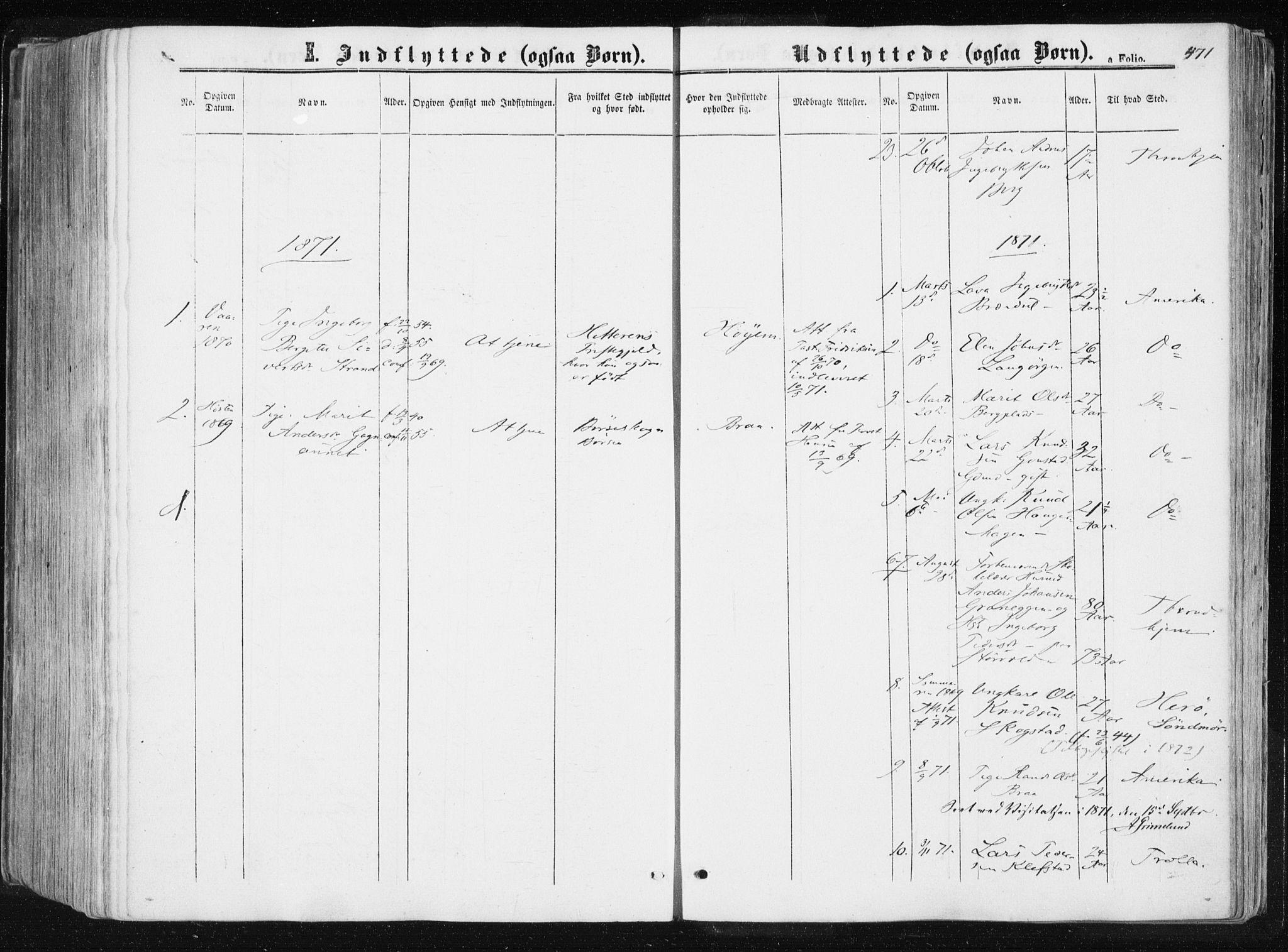 SAT, Ministerialprotokoller, klokkerbøker og fødselsregistre - Sør-Trøndelag, 612/L0377: Ministerialbok nr. 612A09, 1859-1877, s. 471
