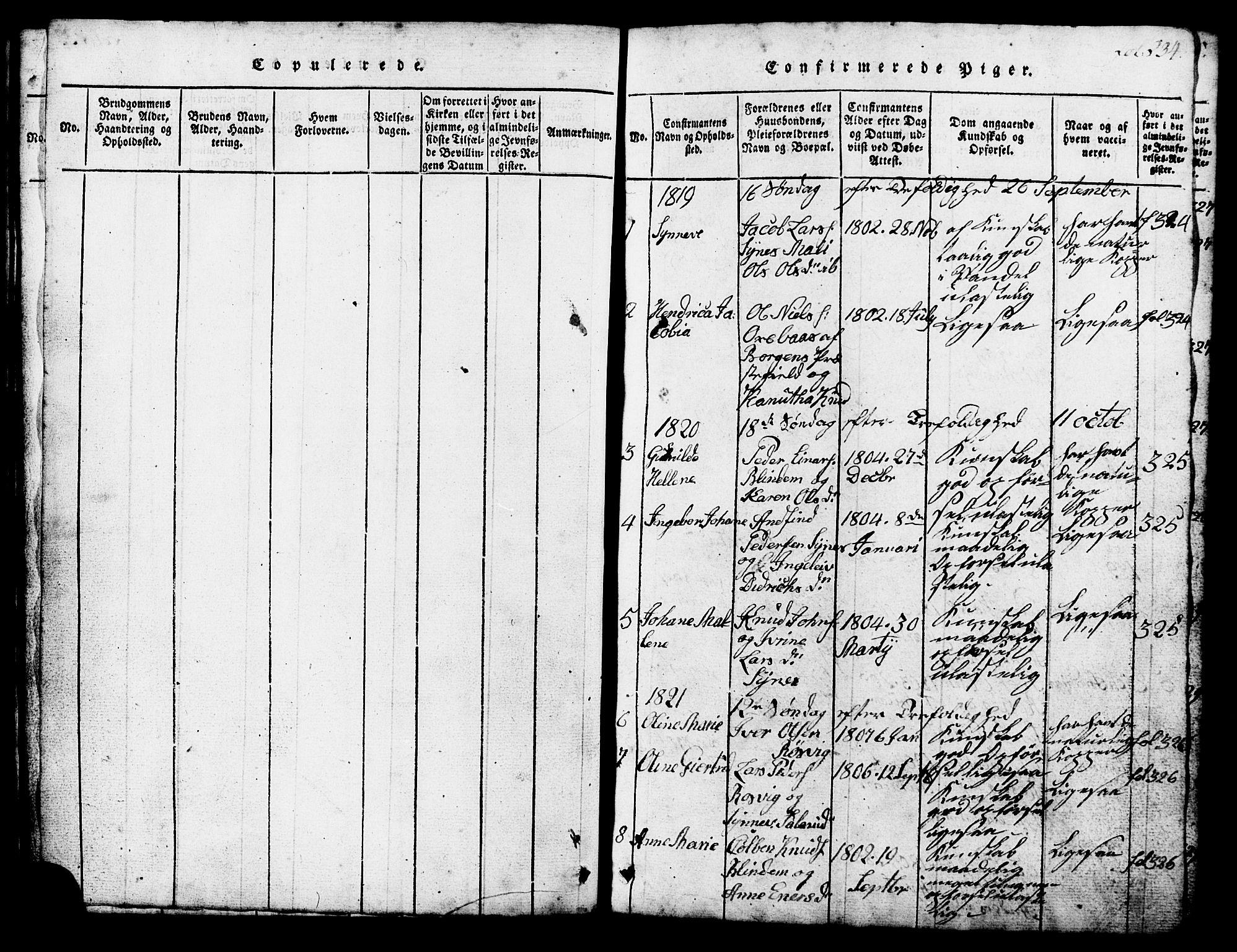 SAT, Ministerialprotokoller, klokkerbøker og fødselsregistre - Møre og Romsdal, 537/L0520: Klokkerbok nr. 537C01, 1819-1868, s. 234