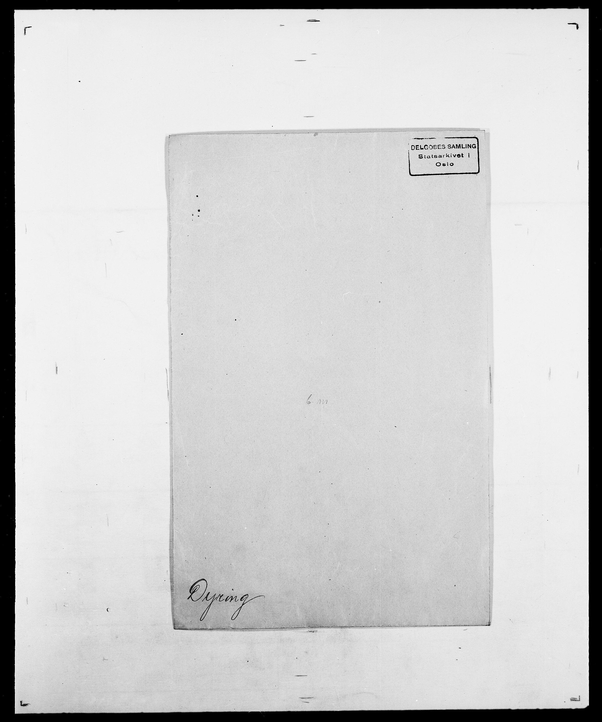 SAO, Delgobe, Charles Antoine - samling, D/Da/L0010: Dürendahl - Fagelund, s. 6