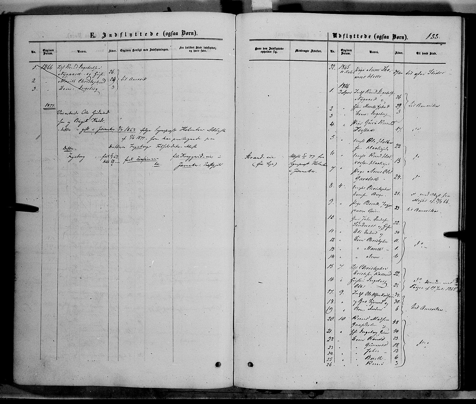 SAH, Vang prestekontor, Valdres, Ministerialbok nr. 7, 1865-1881, s. 188