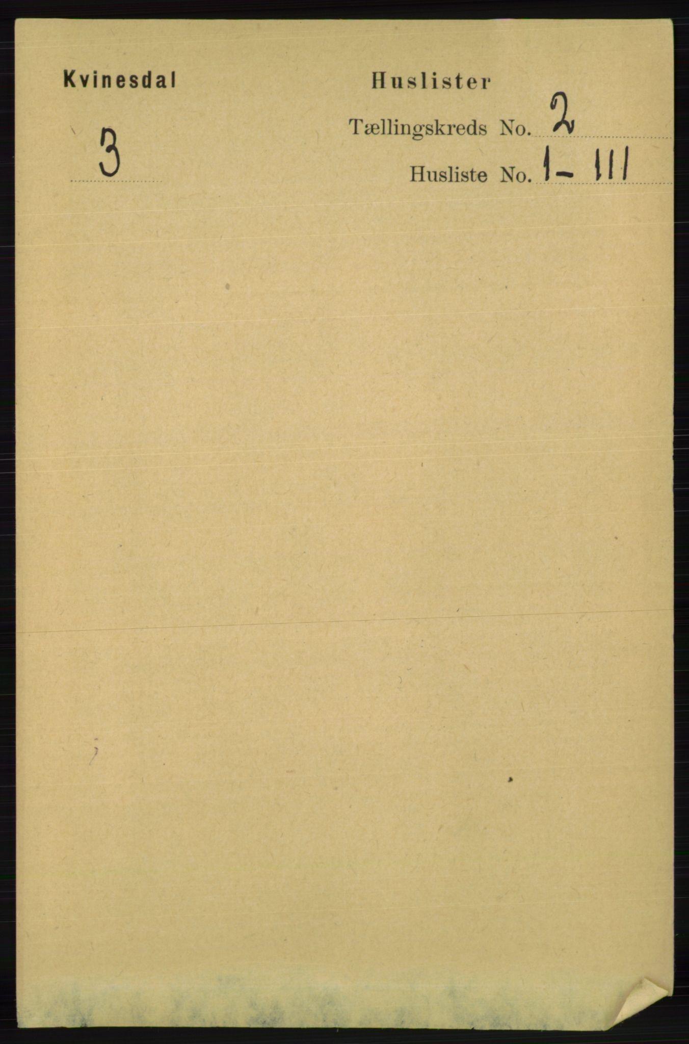 RA, Folketelling 1891 for 1037 Kvinesdal herred, 1891, s. 256