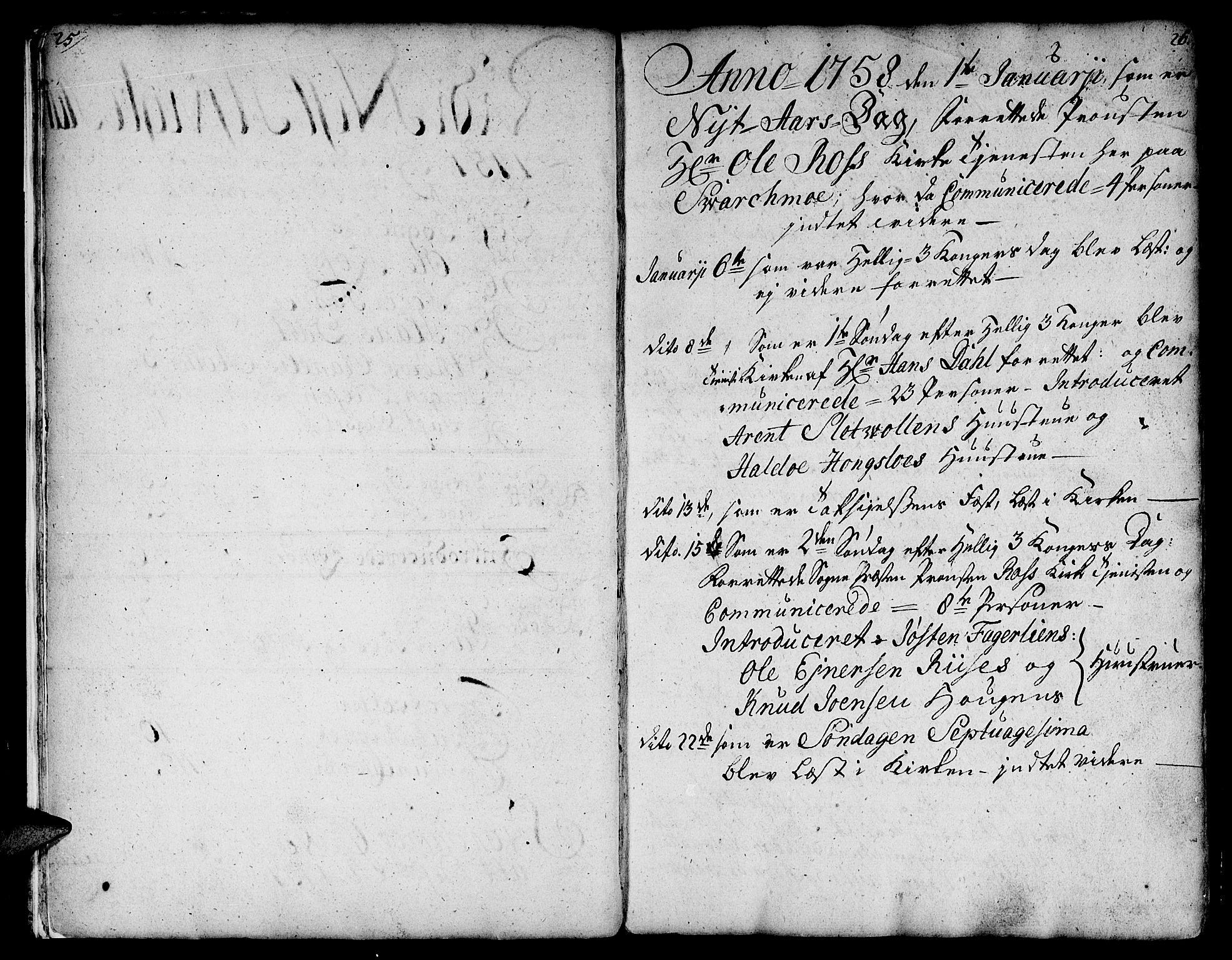 SAT, Ministerialprotokoller, klokkerbøker og fødselsregistre - Sør-Trøndelag, 671/L0840: Ministerialbok nr. 671A02, 1756-1794, s. 25-26