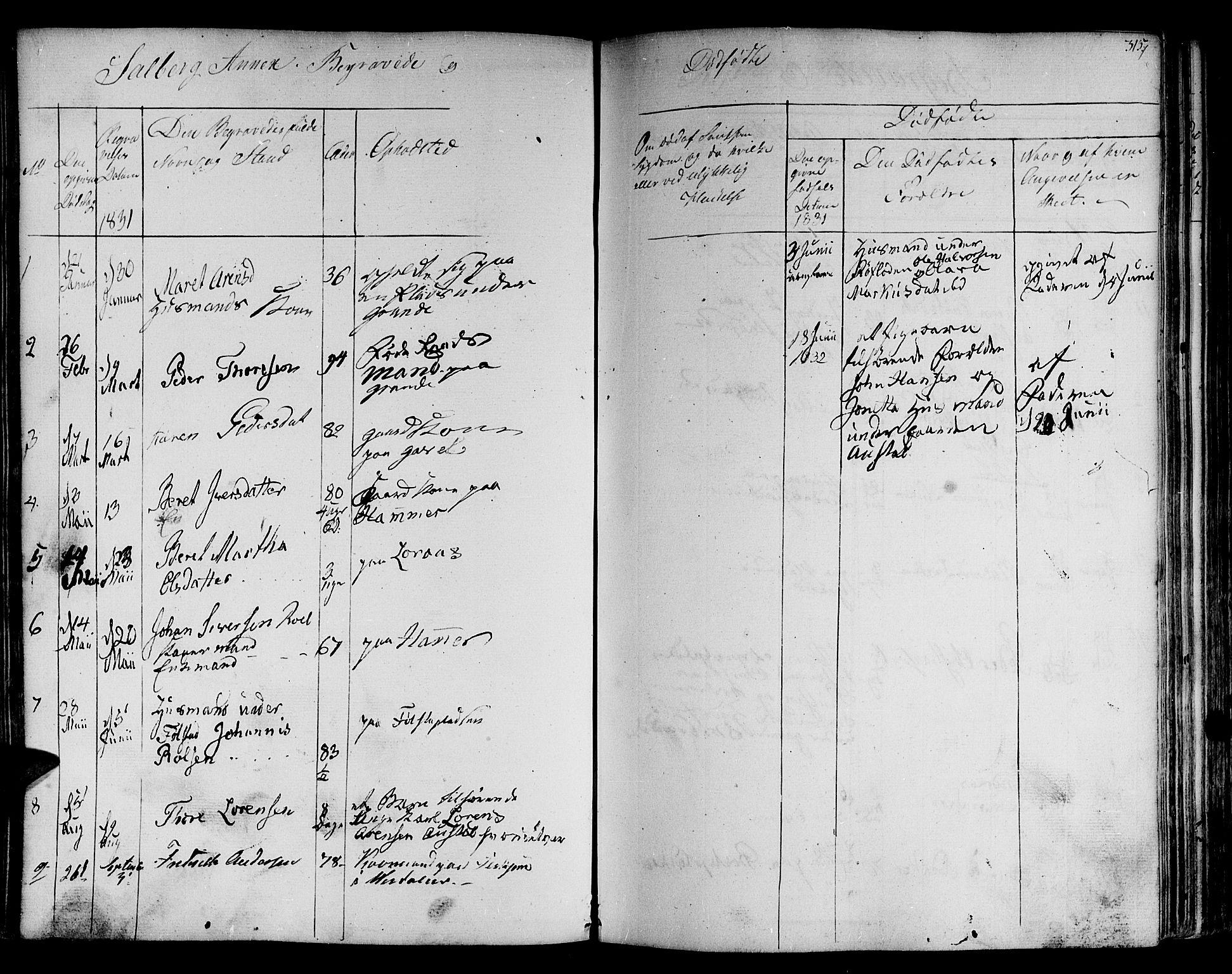 SAT, Ministerialprotokoller, klokkerbøker og fødselsregistre - Nord-Trøndelag, 730/L0277: Ministerialbok nr. 730A06 /2, 1831-1839, s. 315