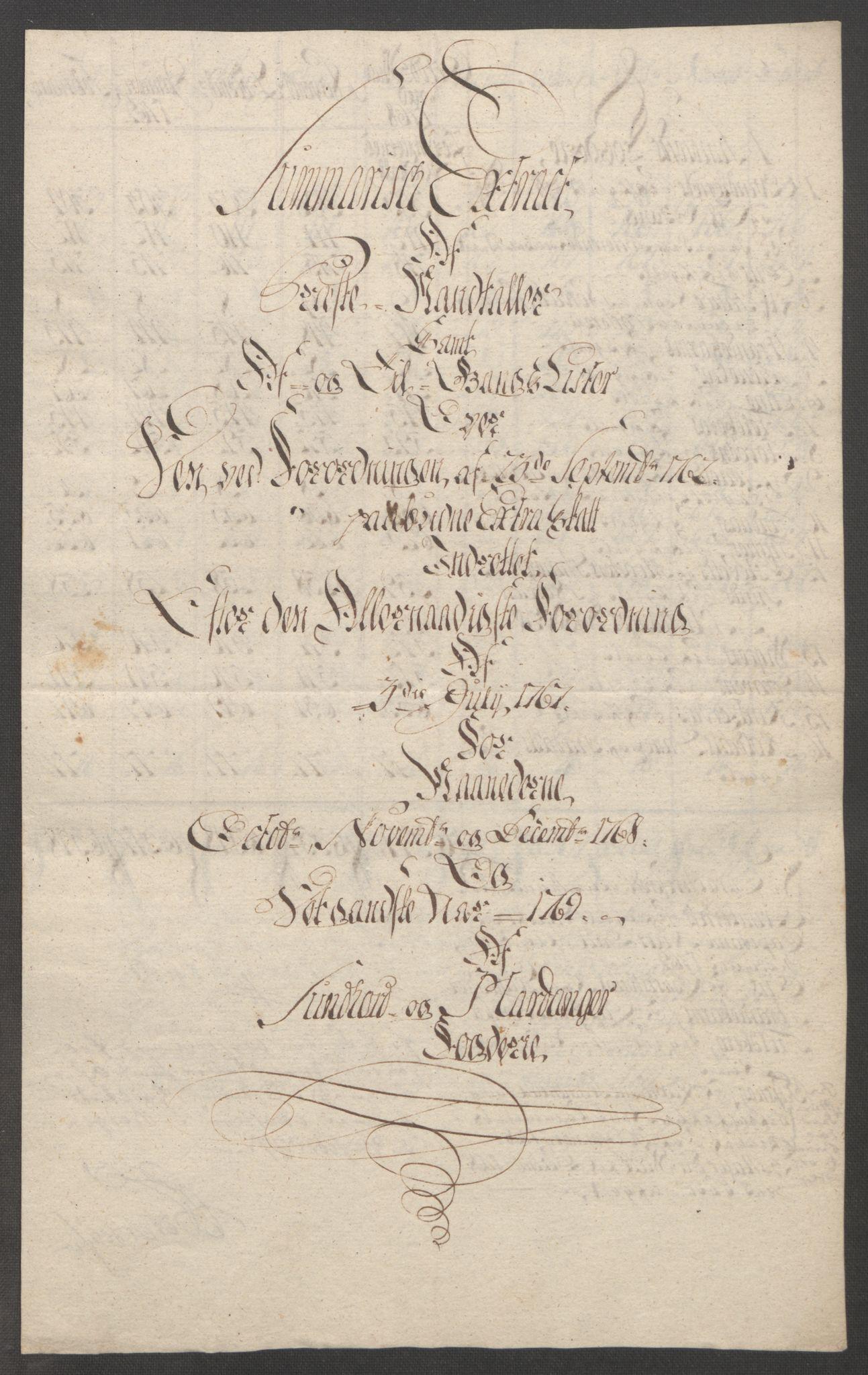 RA, Rentekammeret inntil 1814, Reviderte regnskaper, Fogderegnskap, R48/L3136: Ekstraskatten Sunnhordland og Hardanger, 1762-1772, s. 187