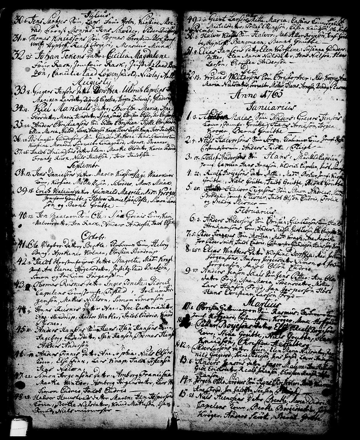 SAKO, Skien kirkebøker, G/Ga/L0001: Klokkerbok nr. 1, 1756-1791, s. 81