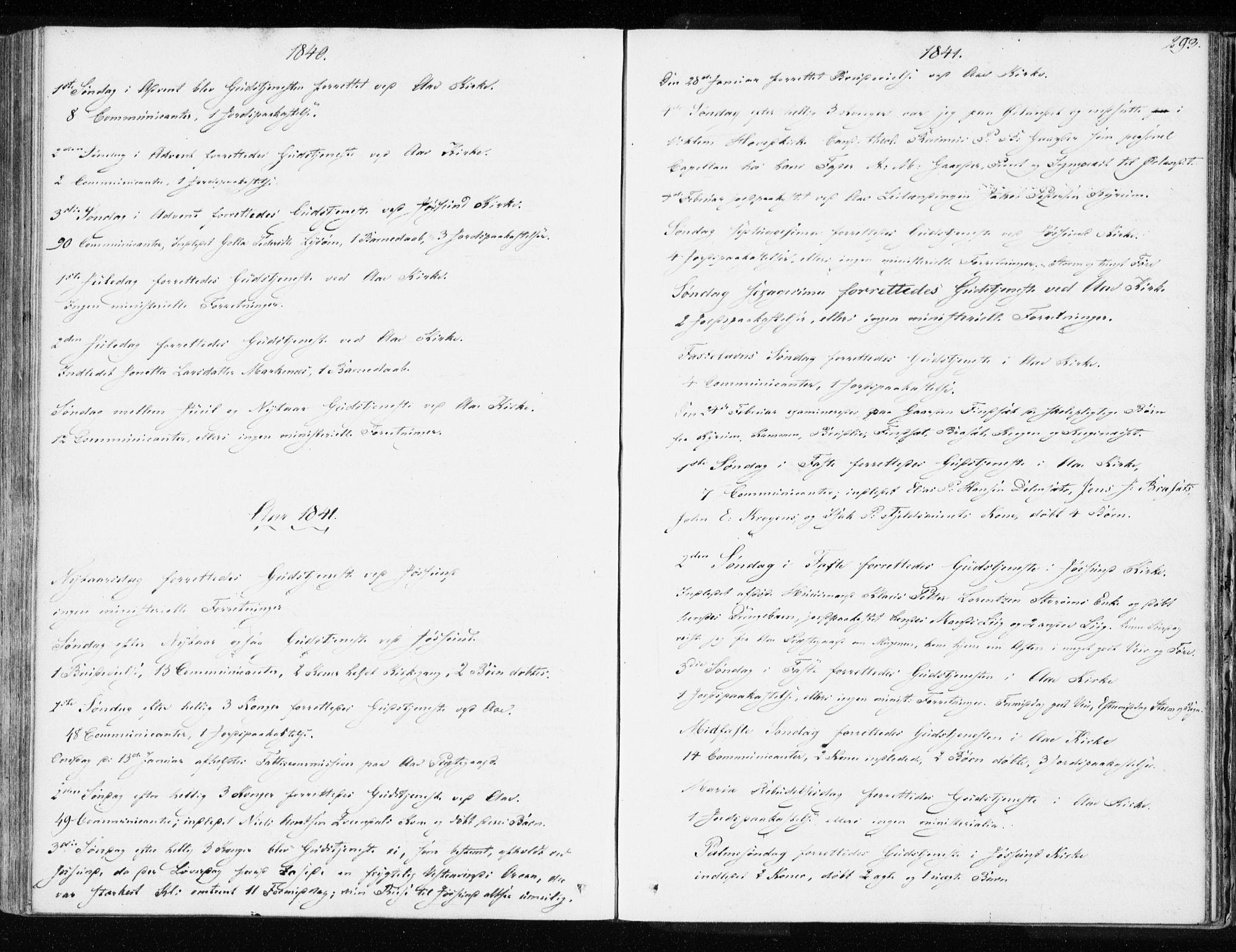 SAT, Ministerialprotokoller, klokkerbøker og fødselsregistre - Sør-Trøndelag, 655/L0676: Ministerialbok nr. 655A05, 1830-1847, s. 293