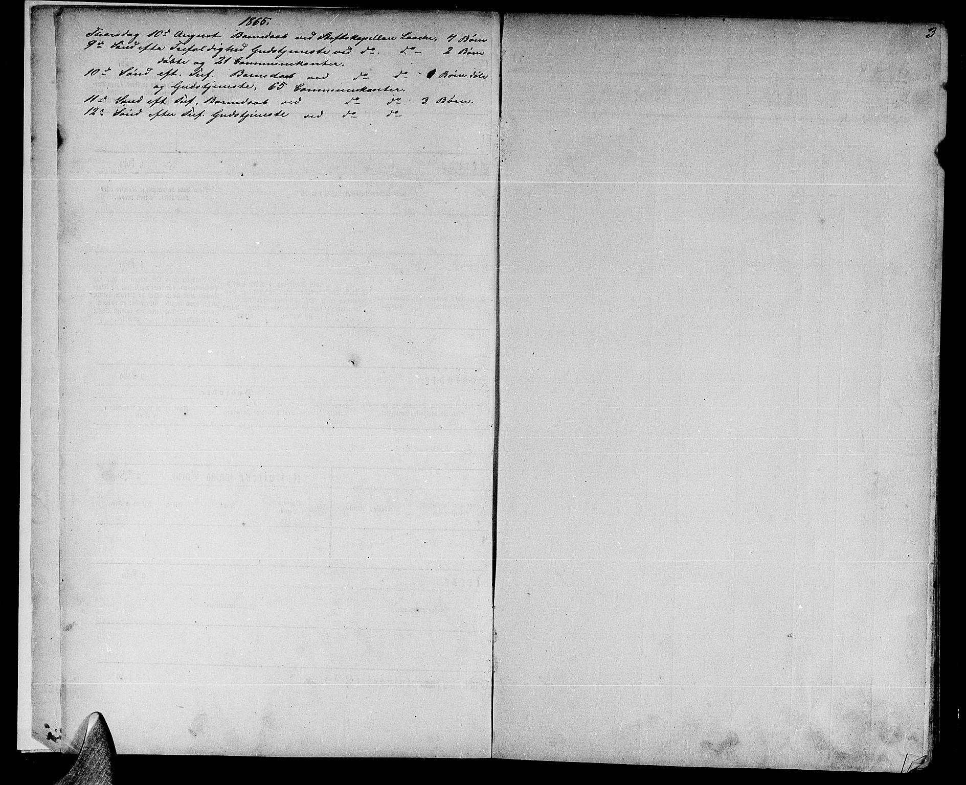 SAT, Ministerialprotokoller, klokkerbøker og fødselsregistre - Nord-Trøndelag, 739/L0373: Klokkerbok nr. 739C01, 1865-1882, s. 3