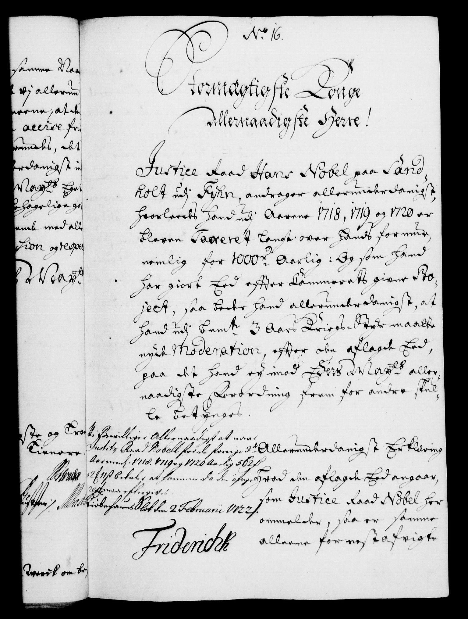 RA, Rentekammeret, Kammerkanselliet, G/Gf/Gfa/L0005: Norsk relasjons- og resolusjonsprotokoll (merket RK 52.5), 1722, s. 80