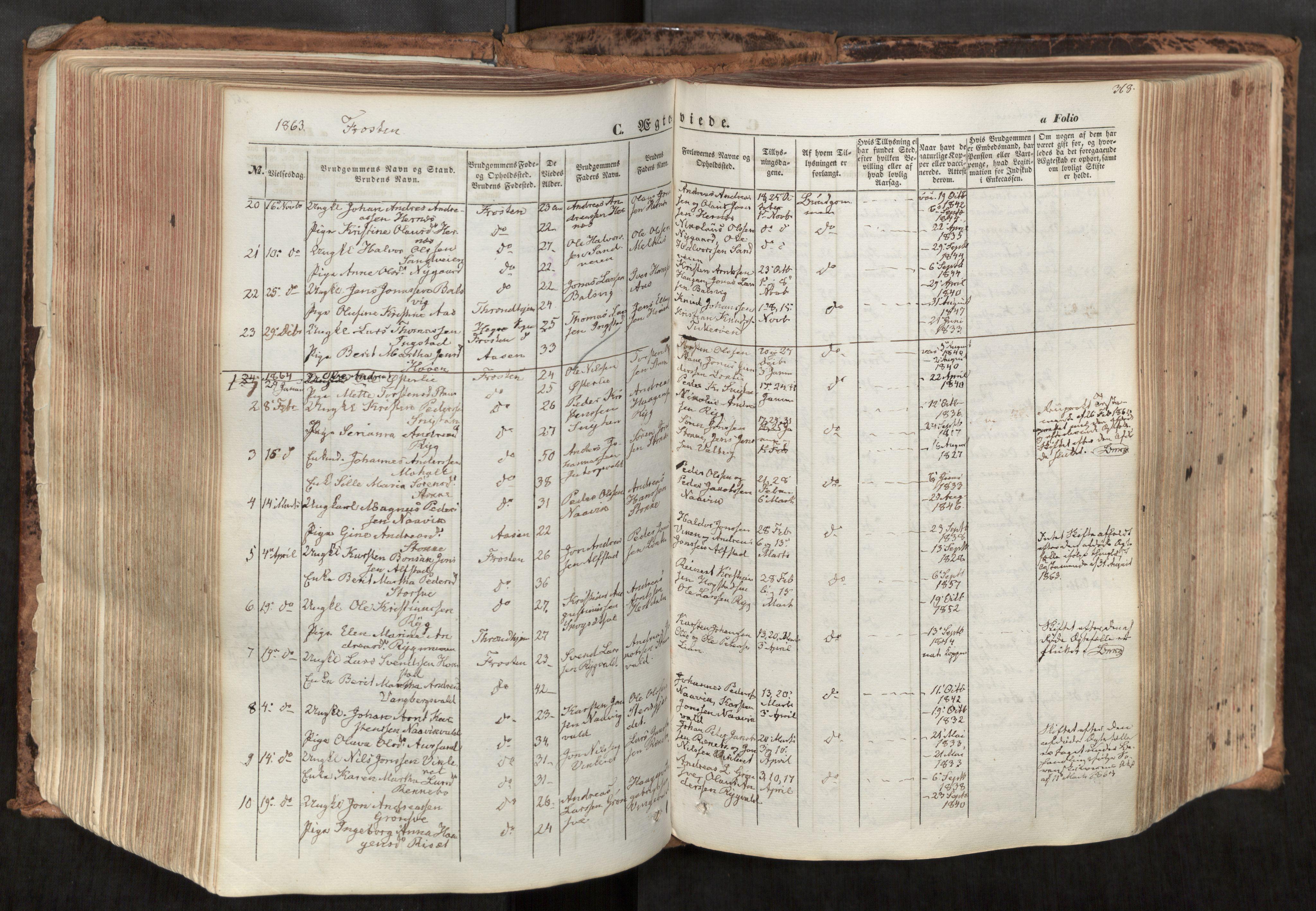 SAT, Ministerialprotokoller, klokkerbøker og fødselsregistre - Nord-Trøndelag, 713/L0116: Ministerialbok nr. 713A07, 1850-1877, s. 368