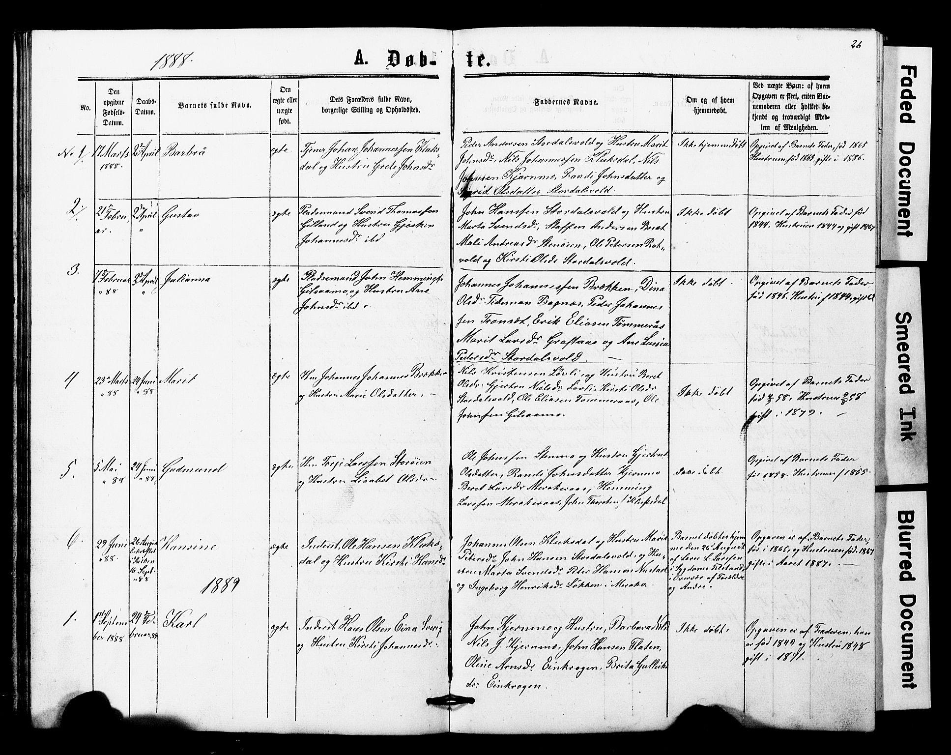 SAT, Ministerialprotokoller, klokkerbøker og fødselsregistre - Nord-Trøndelag, 707/L0052: Klokkerbok nr. 707C01, 1864-1897, s. 26
