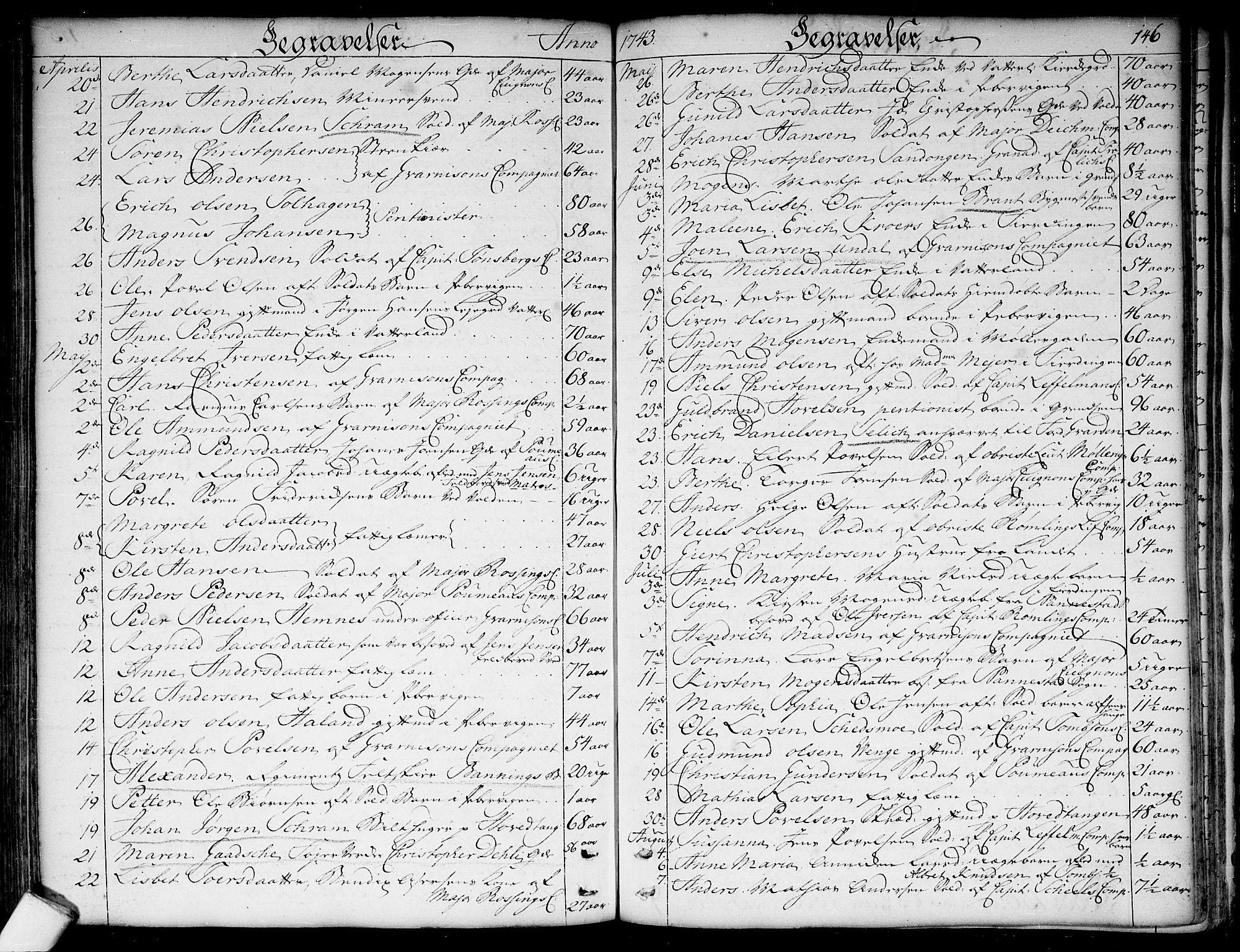 SAO, Garnisonsmenigheten Kirkebøker, F/Fa/L0001: Ministerialbok nr. 1, 1734-1756, s. 146