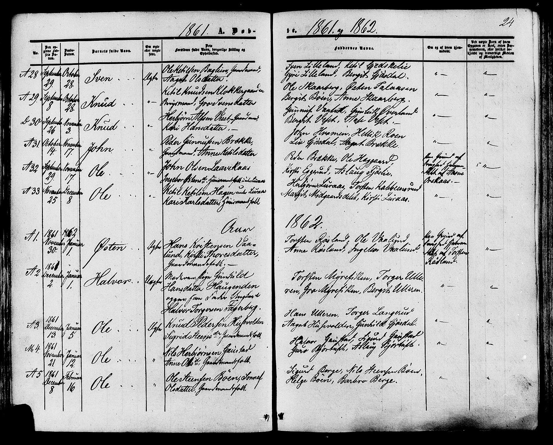 SAKO, Tinn kirkebøker, F/Fa/L0006: Ministerialbok nr. I 6, 1857-1878, s. 24