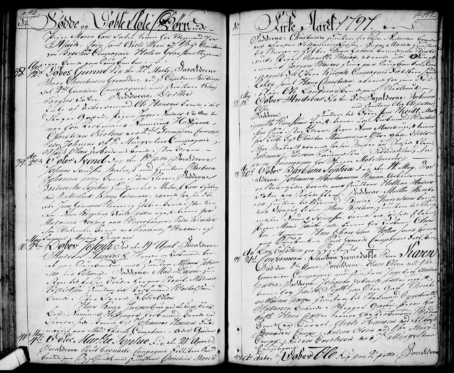 SAO, Halden prestekontor Kirkebøker, F/Fa/L0002: Ministerialbok nr. I 2, 1792-1812, s. 146-147