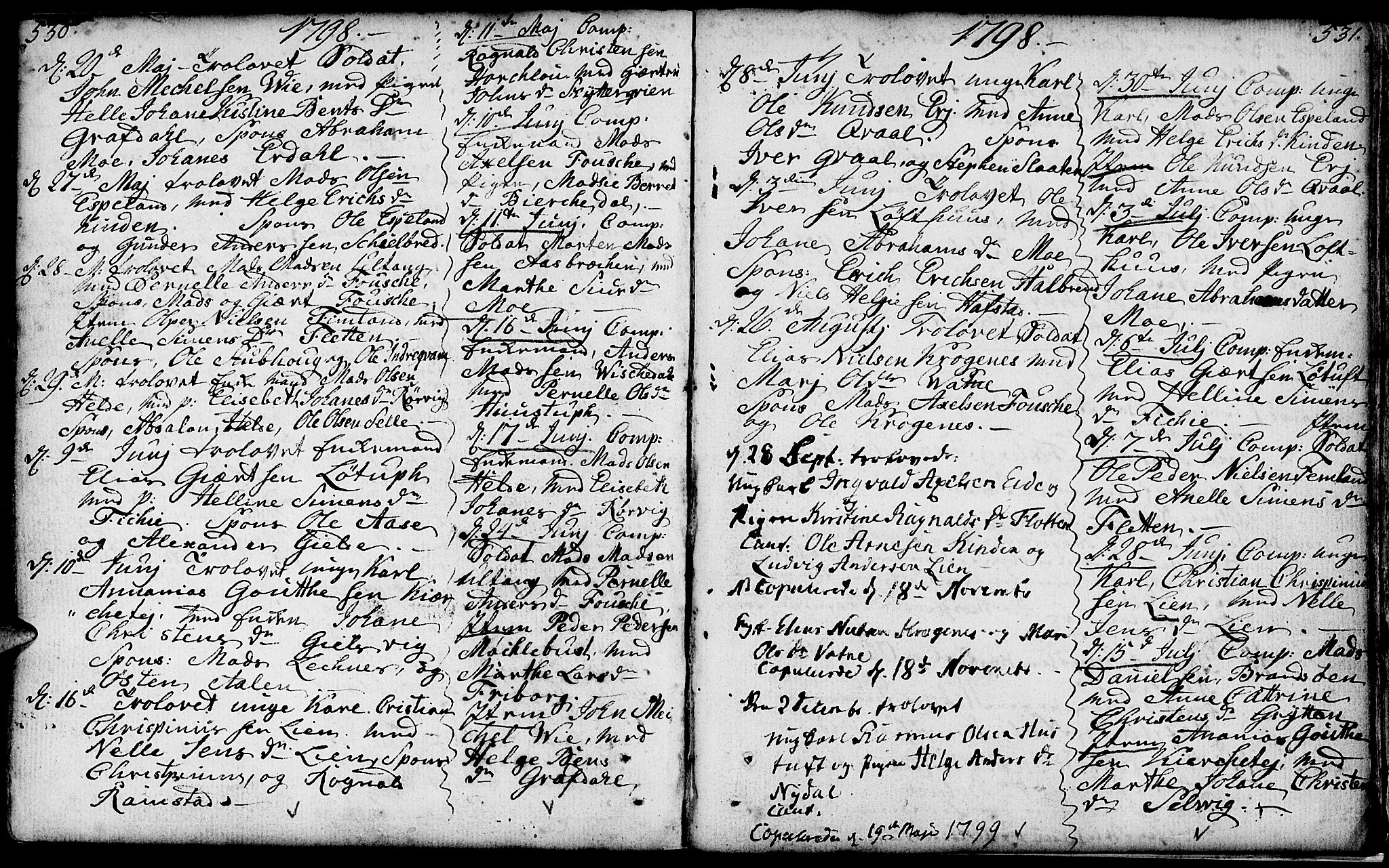 SAB, Førde sokneprestembete, H/Haa: Ministerialbok nr. A 4, 1781-1803, s. 530-531