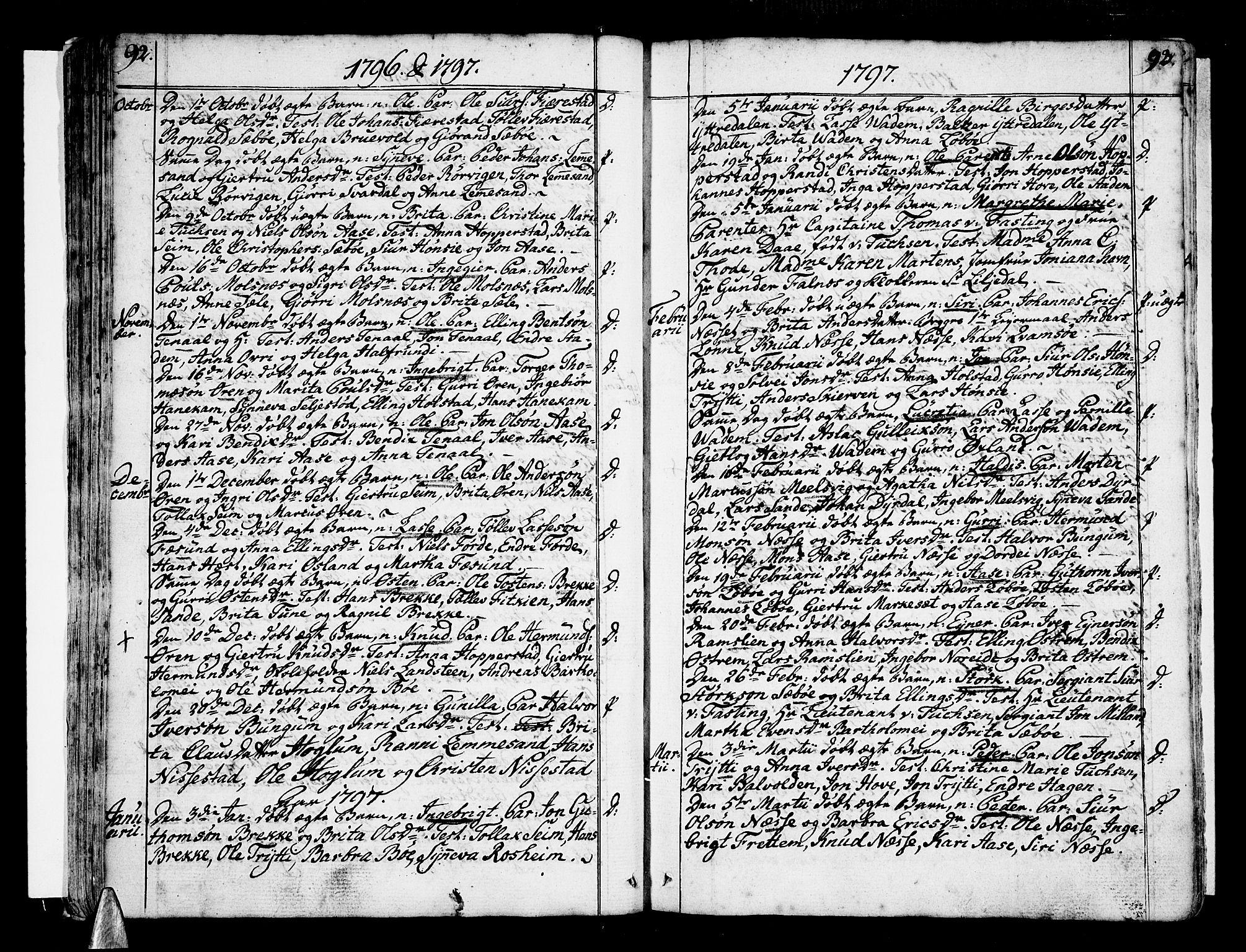 SAB, Vik Sokneprestembete, Ministerialbok nr. A 5, 1787-1820, s. 92-93