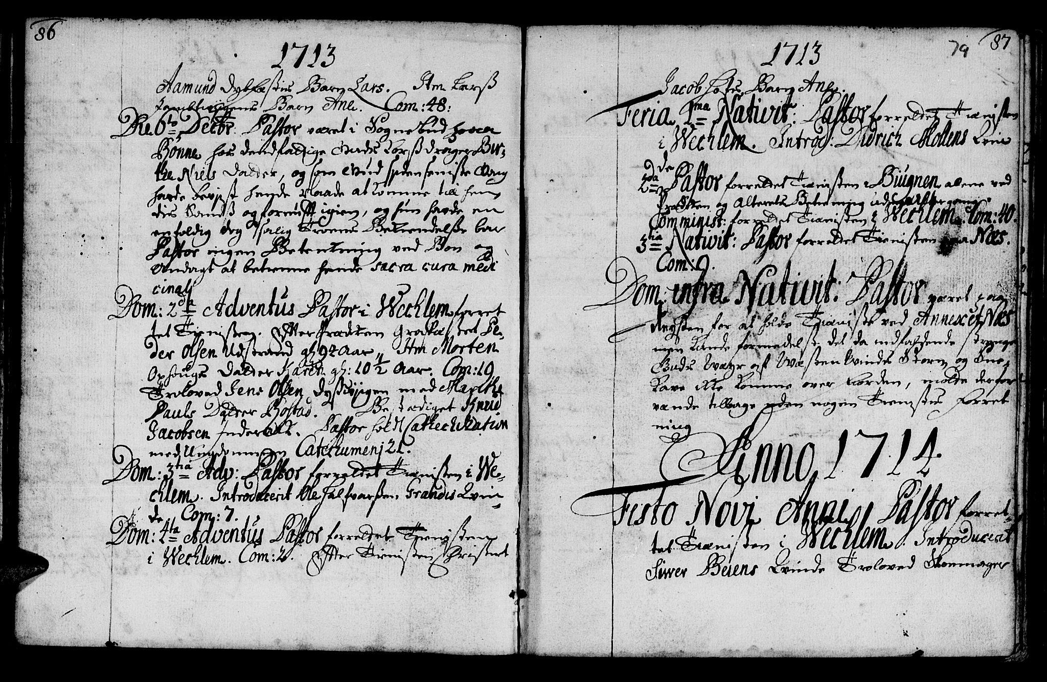 SAT, Ministerialprotokoller, klokkerbøker og fødselsregistre - Sør-Trøndelag, 659/L0731: Ministerialbok nr. 659A01, 1709-1731, s. 78-79