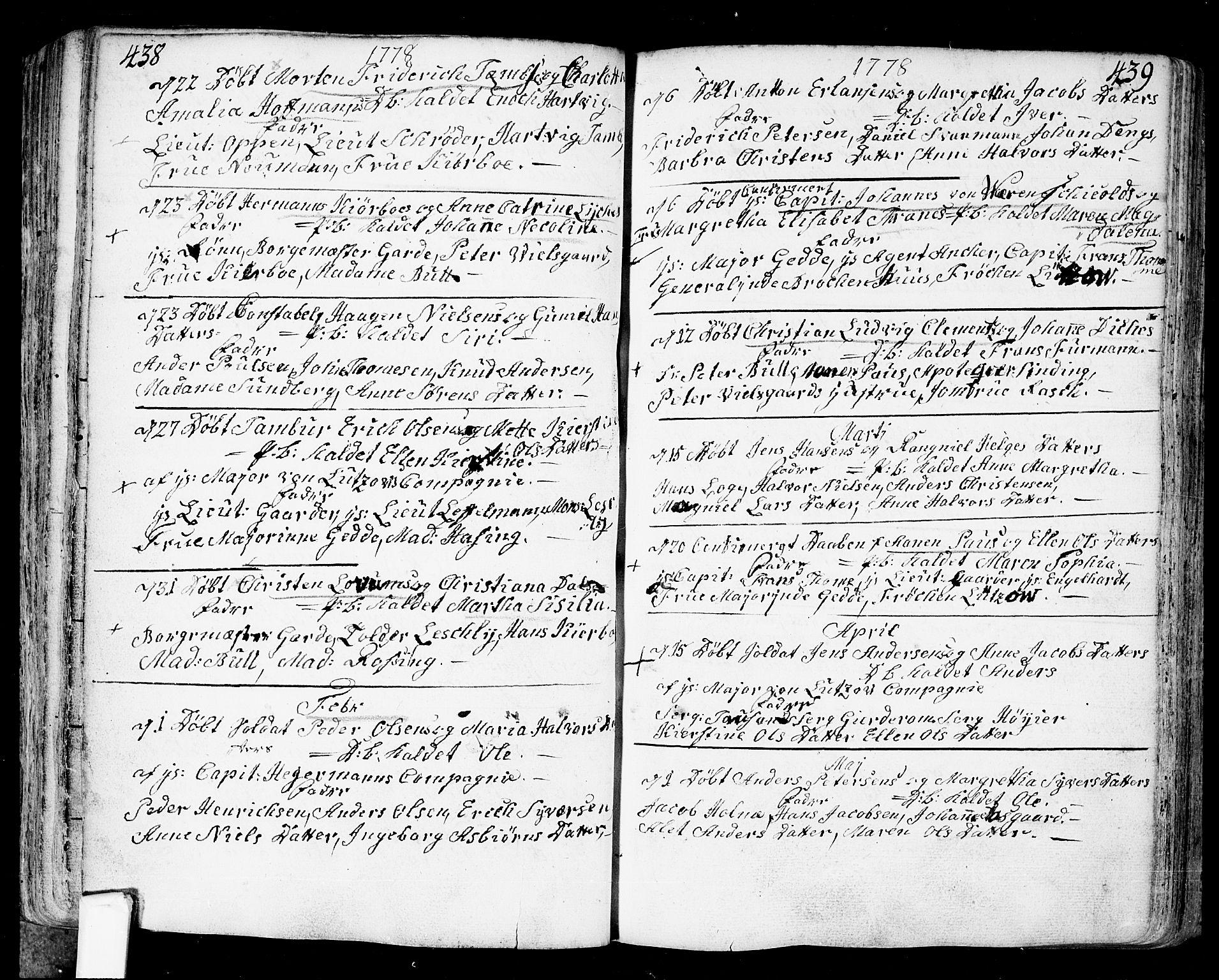 SAO, Fredrikstad prestekontor Kirkebøker, F/Fa/L0002: Ministerialbok nr. 2, 1750-1804, s. 438-439