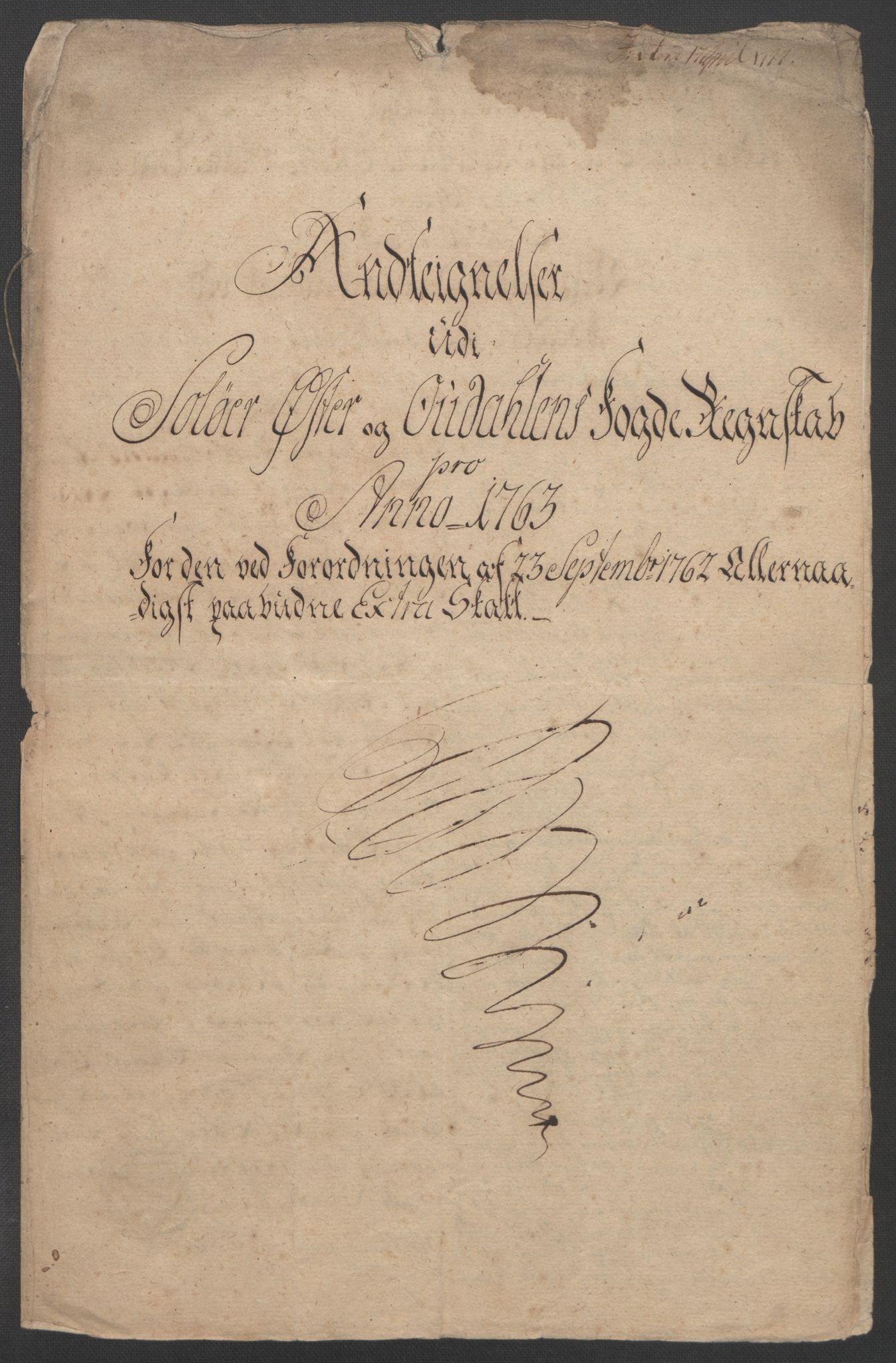 RA, Rentekammeret inntil 1814, Reviderte regnskaper, Fogderegnskap, R14/L0959: Ekstraskatten Solør og Odal, 1763-1770, s. 348
