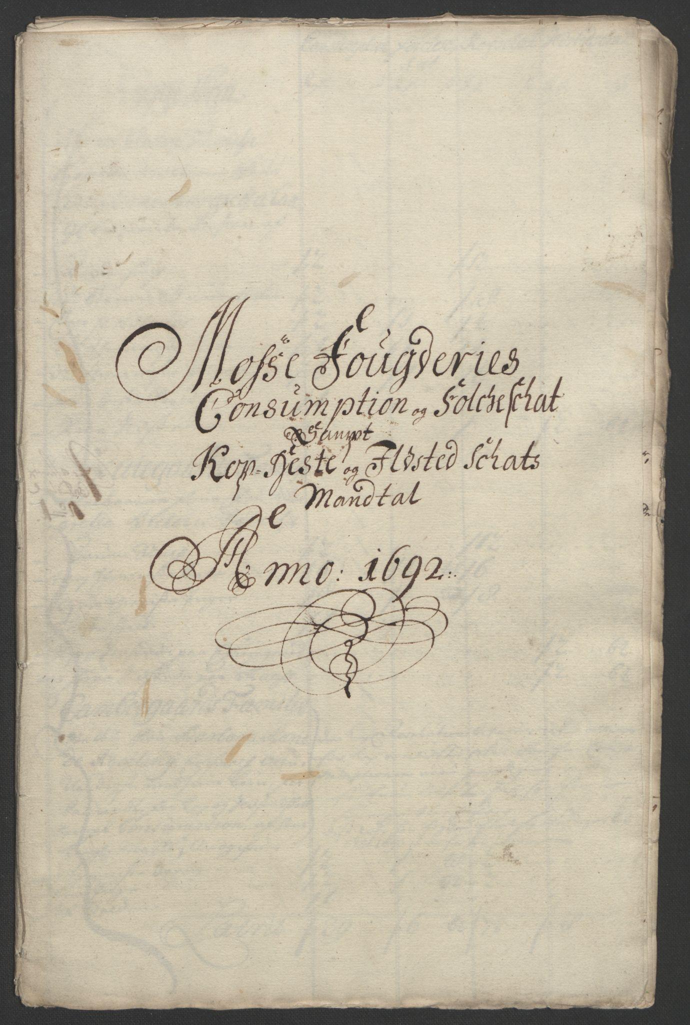 RA, Rentekammeret inntil 1814, Reviderte regnskaper, Fogderegnskap, R02/L0108: Fogderegnskap Moss og Verne kloster, 1692-1693, s. 142