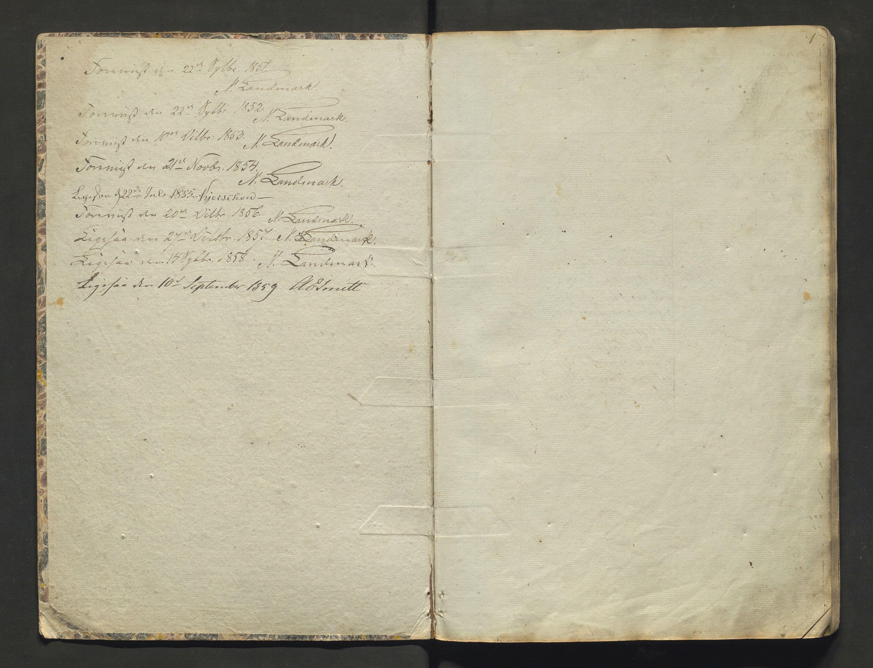 IKAH, Strandebarm kommune. Barneskulane, F/Fa/L0001: Skuleprotokoll for Bru, Berge, Skogasæl, Tangerås, Håbrekke, Fosse, Brekke og Lillefoss krinsar, 1851-1858