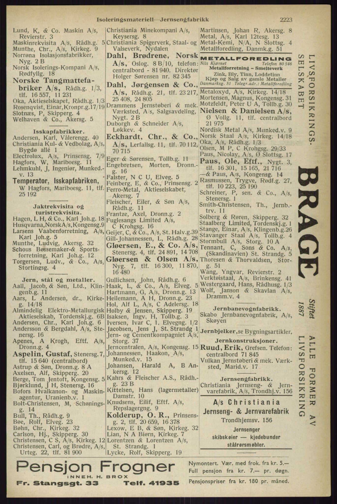 RA, Oslo adressebok (publikasjon)*, 1933, s. 2223