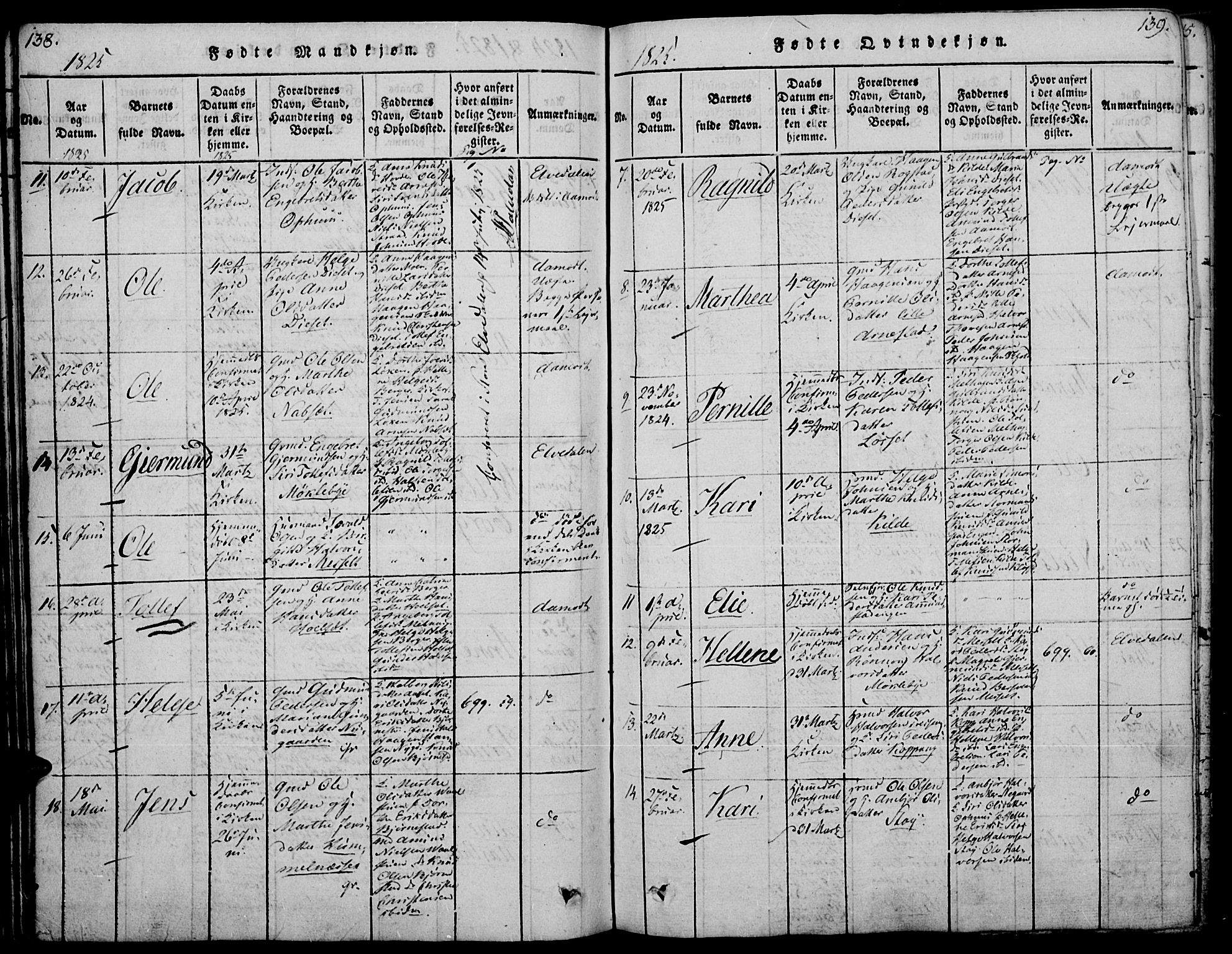 SAH, Åmot prestekontor, Ministerialbok nr. 5, 1815-1841, s. 138-139