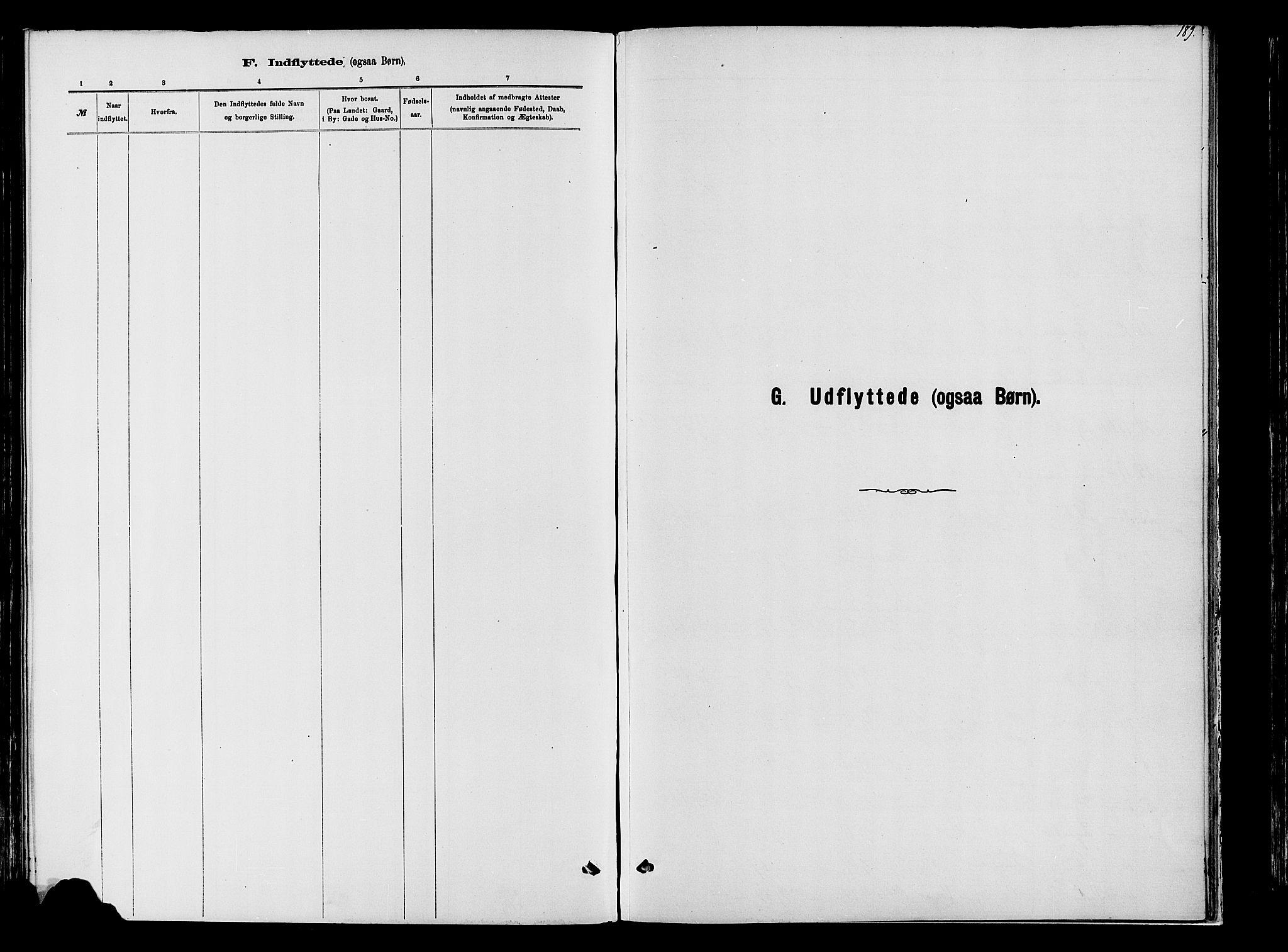 SAH, Vardal prestekontor, H/Ha/Haa/L0009: Ministerialbok nr. 9, 1878-1892, s. 189