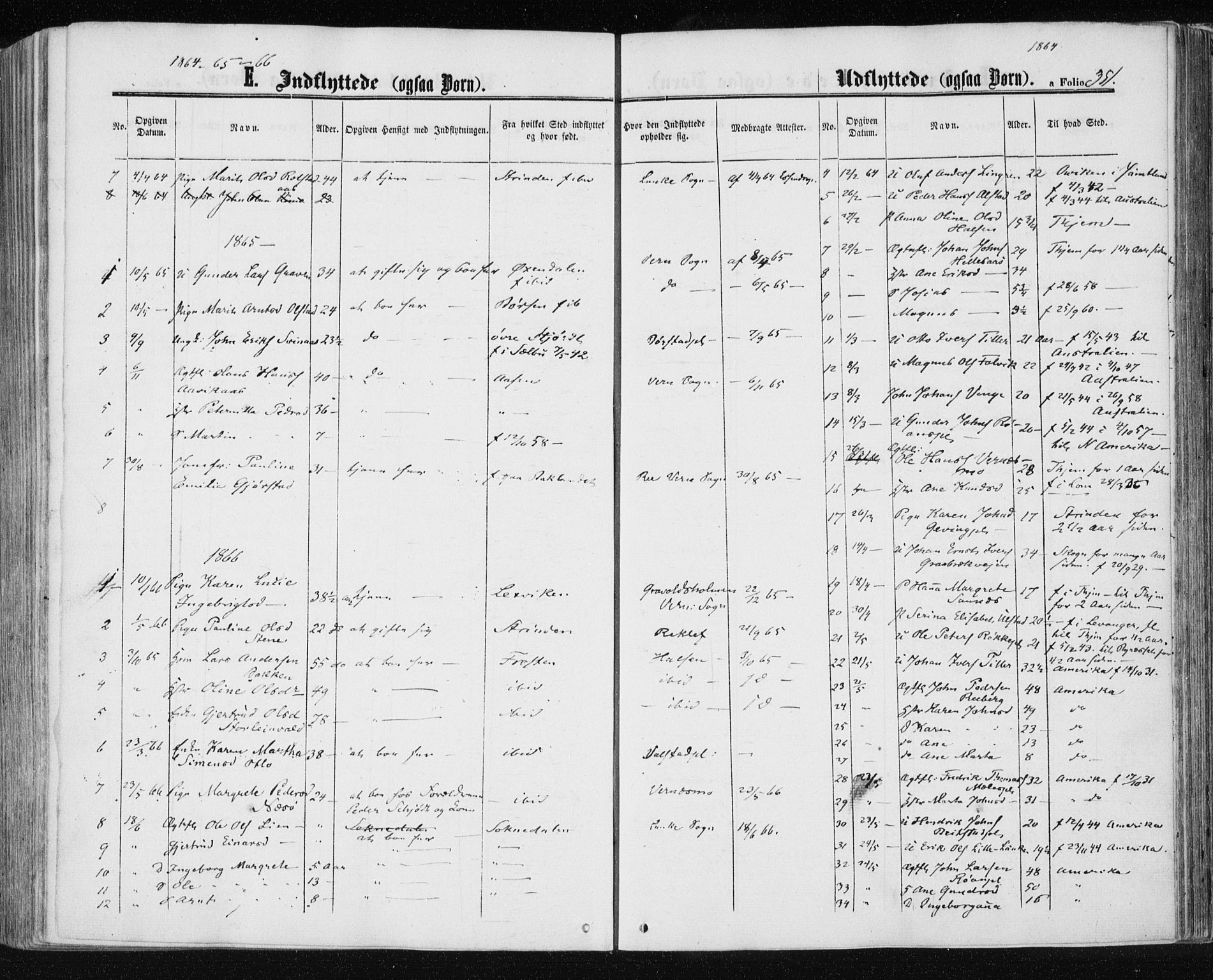SAT, Ministerialprotokoller, klokkerbøker og fødselsregistre - Nord-Trøndelag, 709/L0075: Ministerialbok nr. 709A15, 1859-1870, s. 351