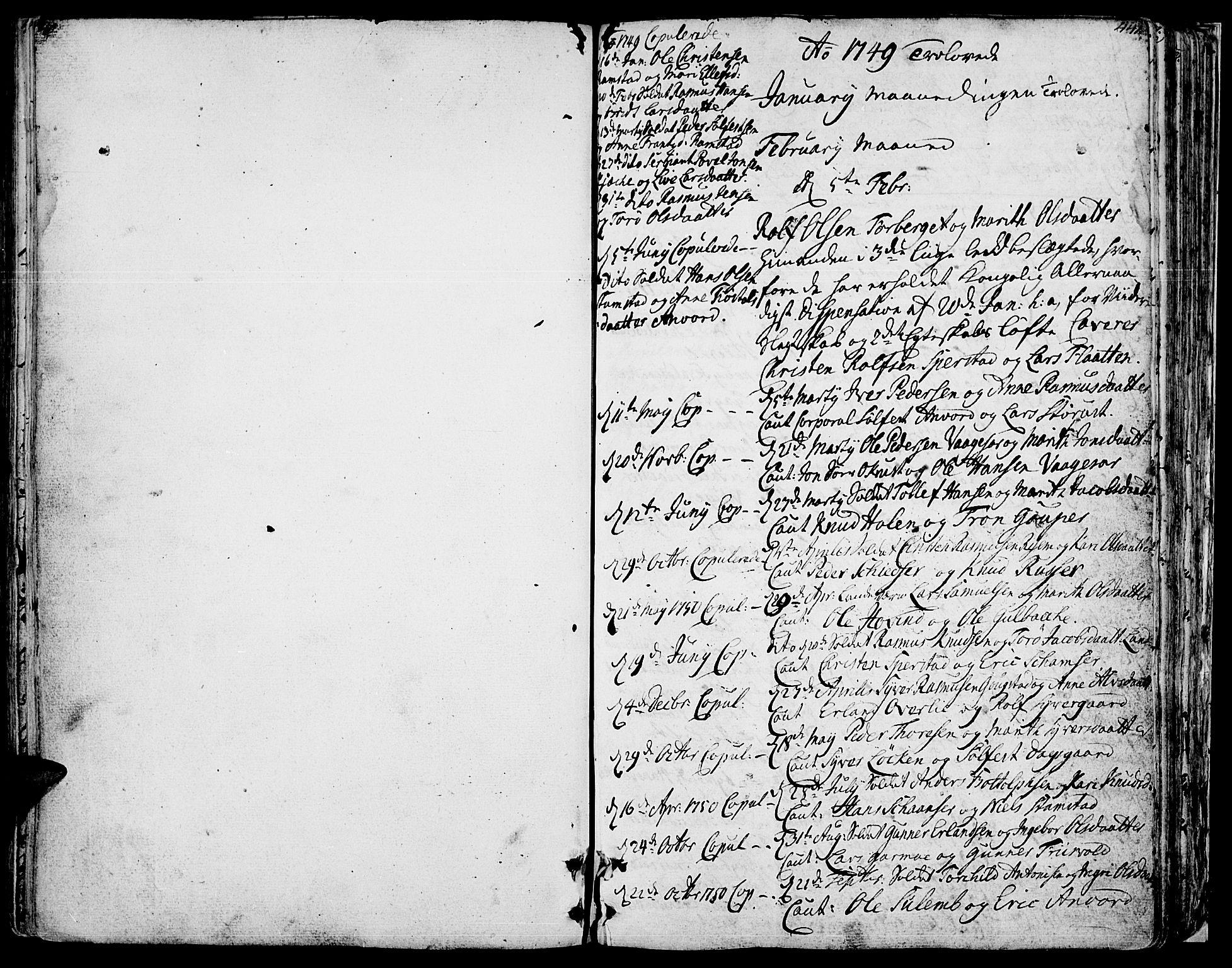 SAH, Lom prestekontor, K/L0002: Ministerialbok nr. 2, 1749-1801, s. 440-441