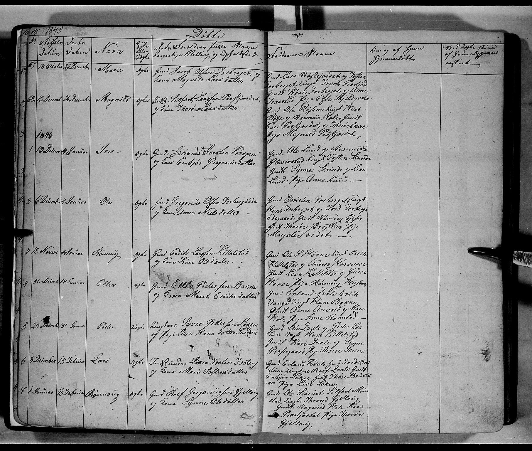 SAH, Lom prestekontor, L/L0004: Klokkerbok nr. 4, 1845-1864, s. 16-17