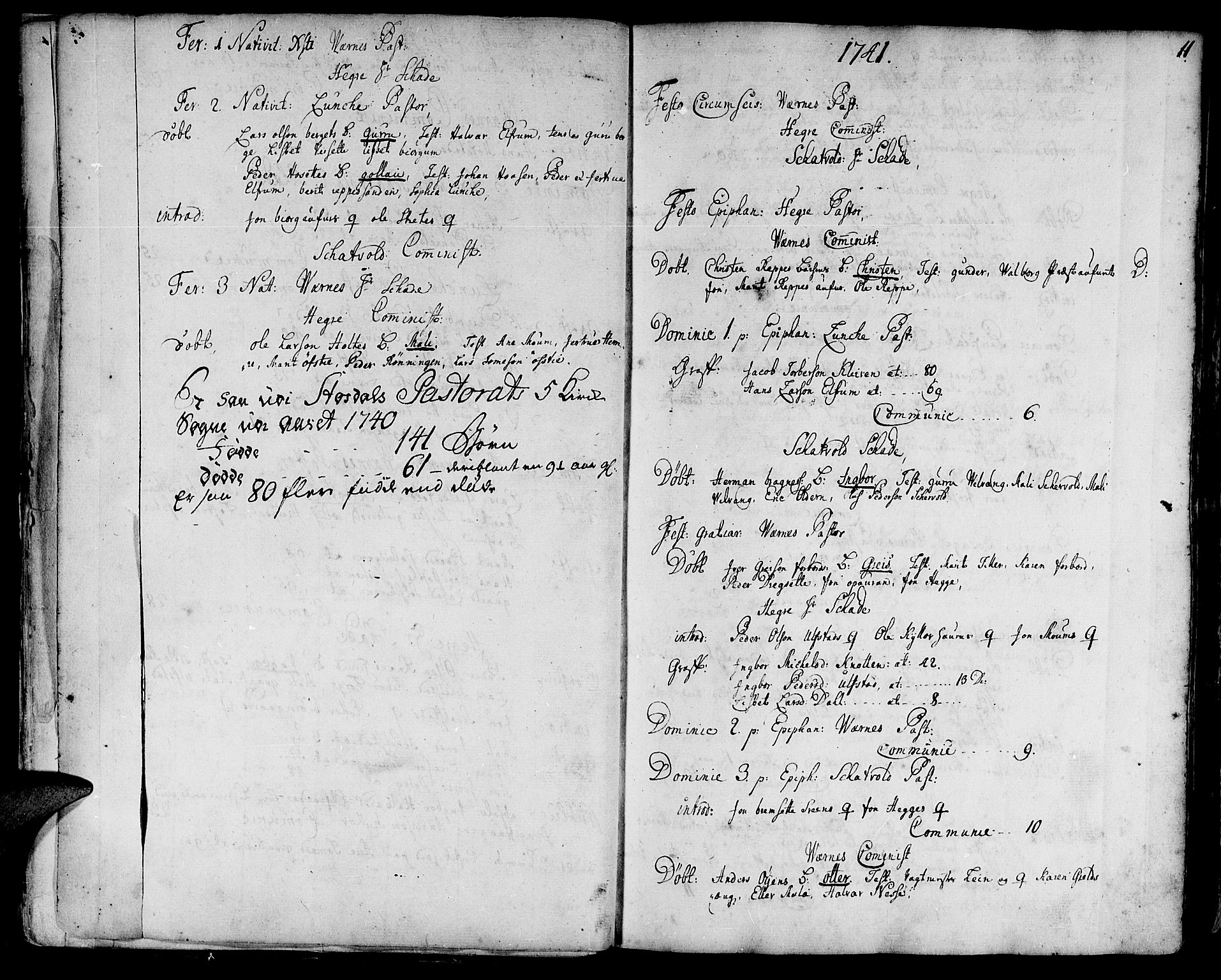 SAT, Ministerialprotokoller, klokkerbøker og fødselsregistre - Nord-Trøndelag, 709/L0056: Ministerialbok nr. 709A04, 1740-1756, s. 11