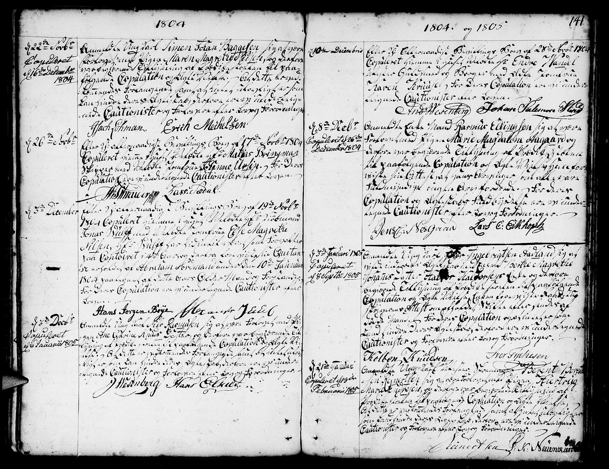 SAB, Nykirken Sokneprestembete, H/Haa: Ministerialbok nr. A 8, 1776-1814, s. 141