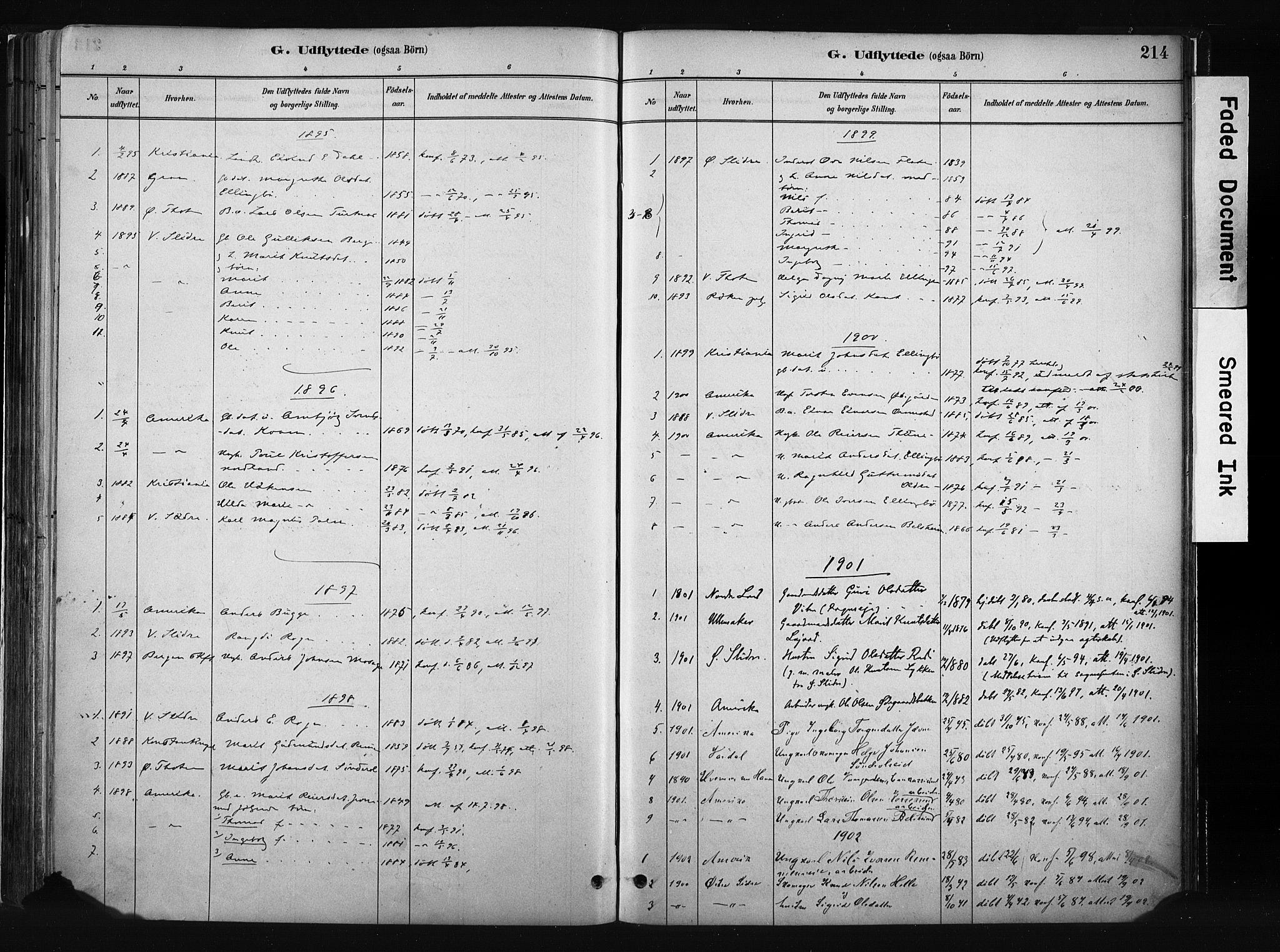 SAH, Vang prestekontor, Valdres, Ministerialbok nr. 8, 1882-1910, s. 214