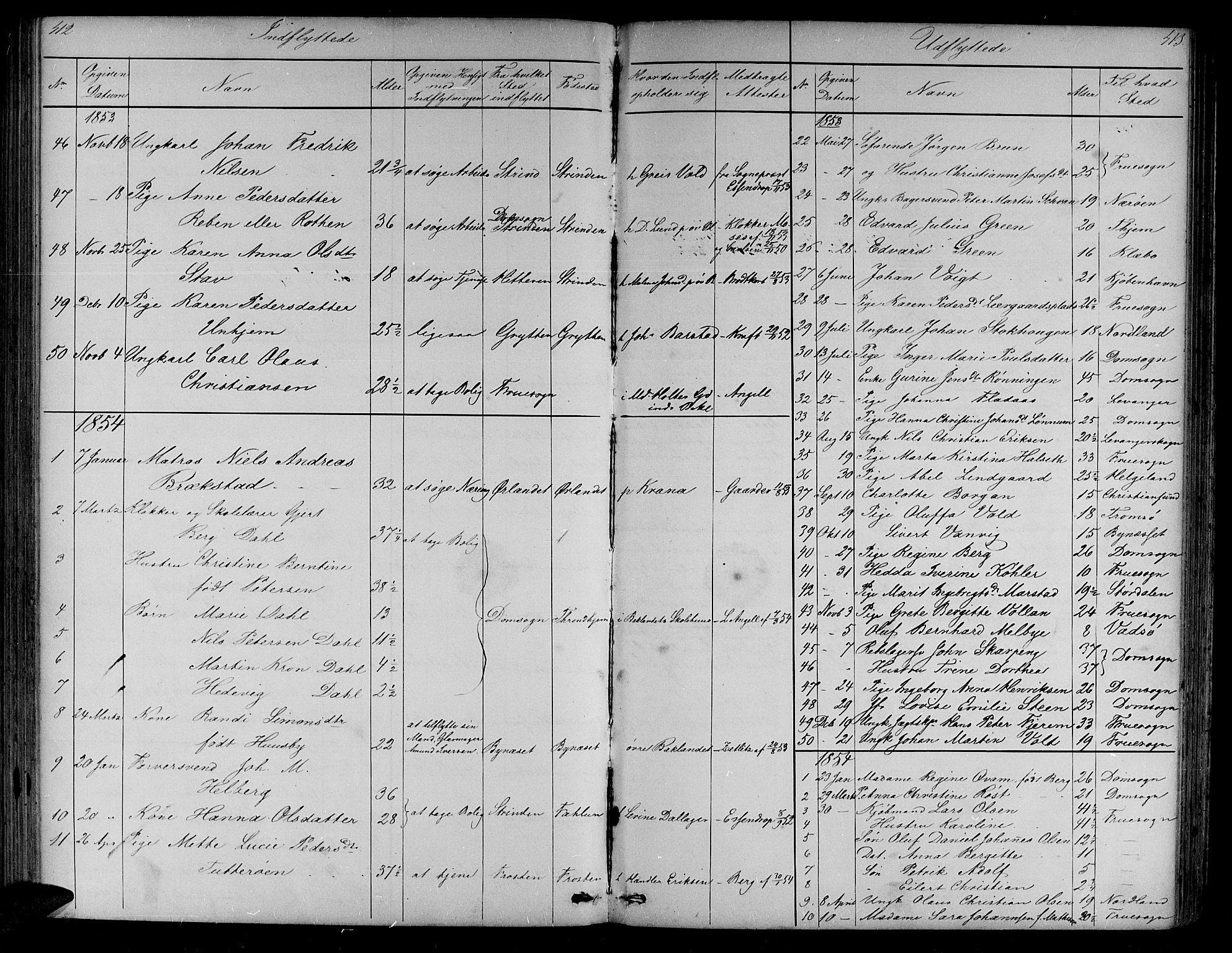 SAT, Ministerialprotokoller, klokkerbøker og fødselsregistre - Sør-Trøndelag, 604/L0219: Klokkerbok nr. 604C02, 1851-1869, s. 412-413