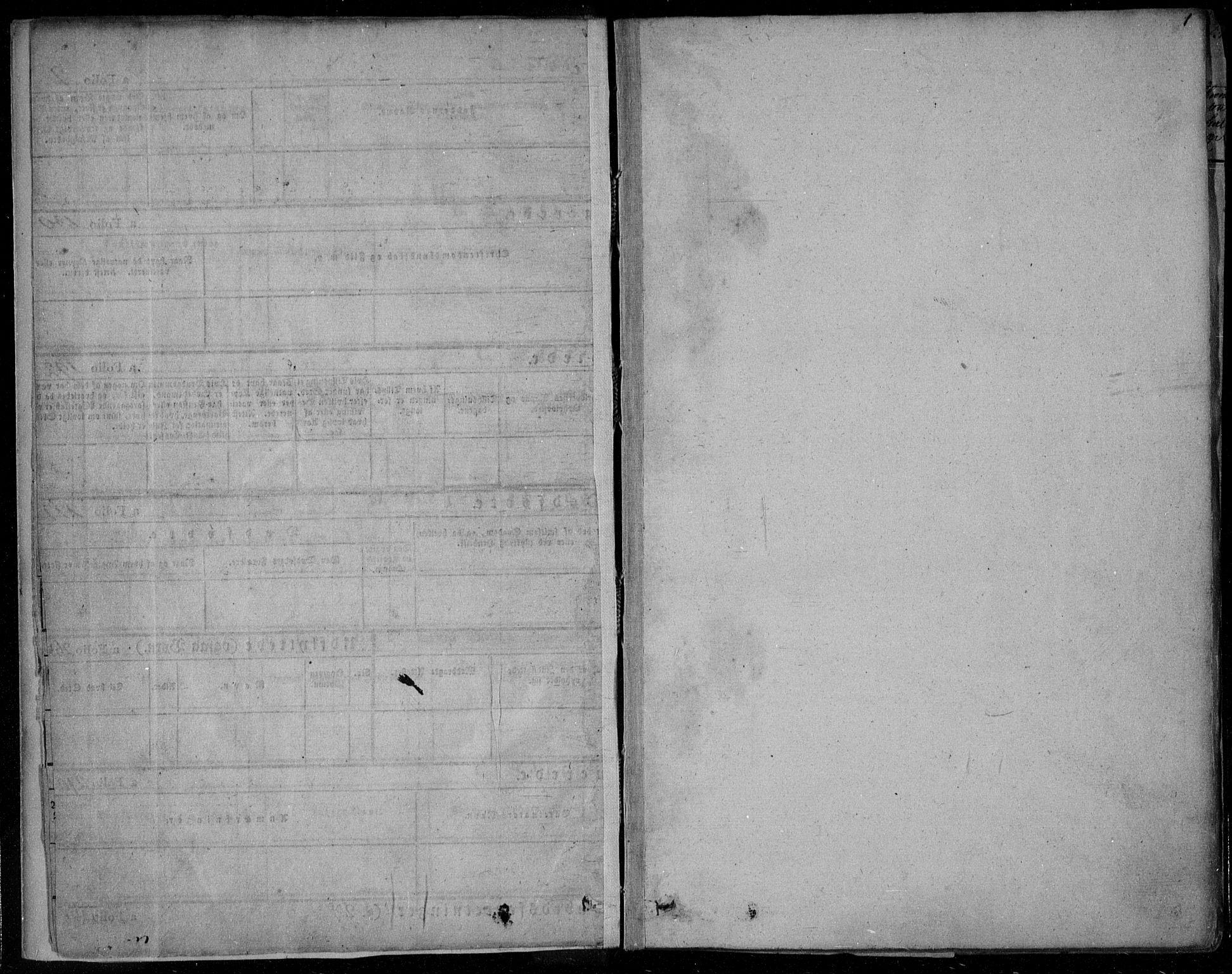SAKO, Gjerpen kirkebøker, F/Fa/L0006: Ministerialbok nr. 6, 1829-1834, s. 1