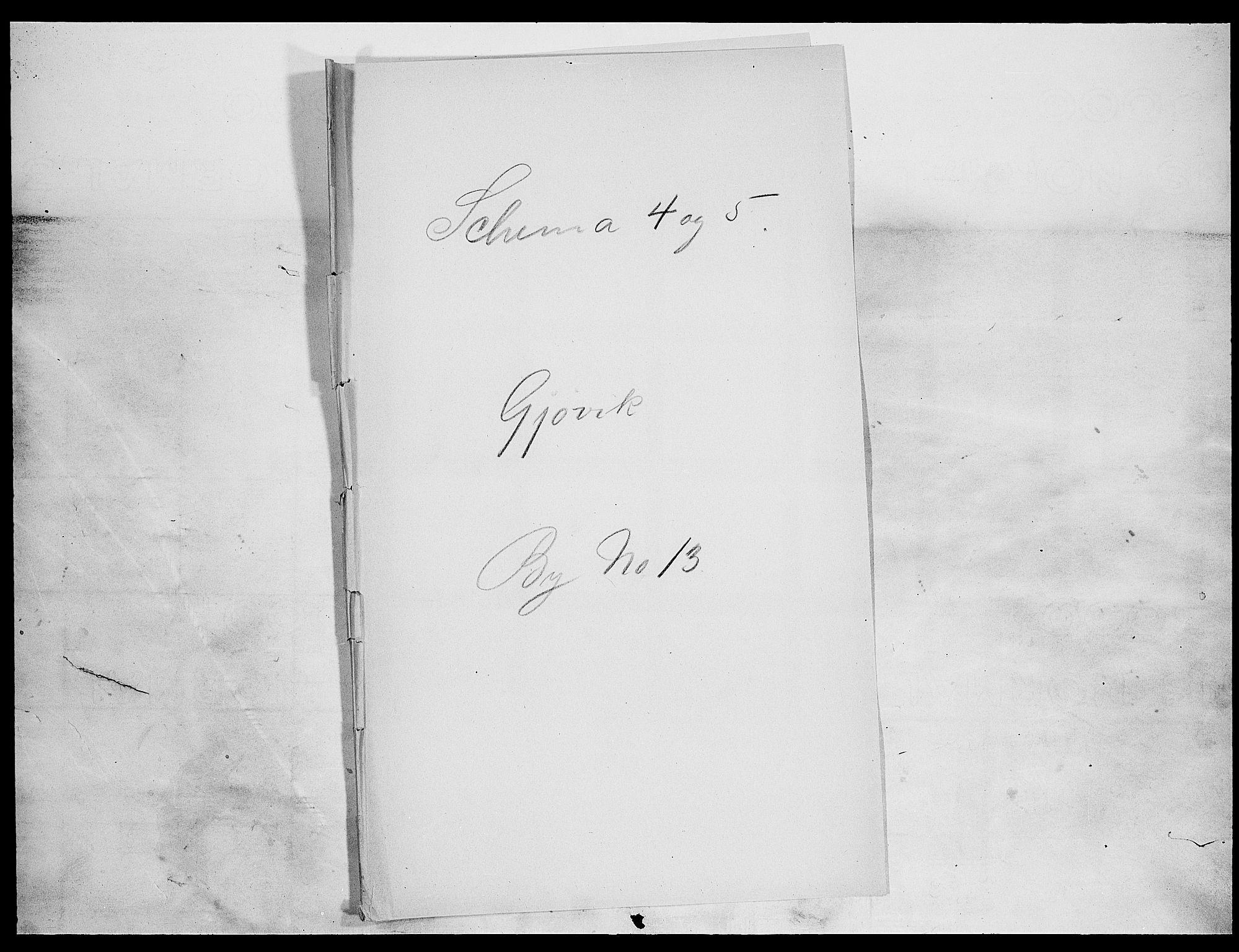 SAH, Folketelling 1900 for 0502 Gjøvik kjøpstad, 1900, s. 1