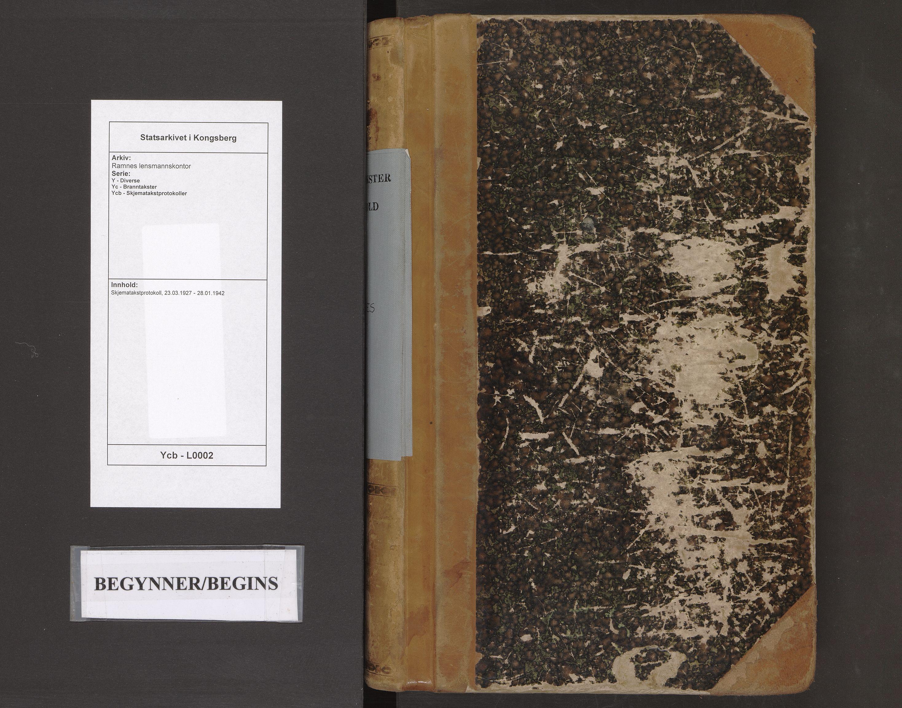 SAKO, Ramnes lensmannskontor, Y/Yc/Ycb/L0002: Skjematakstprotokoll, 1927-1942