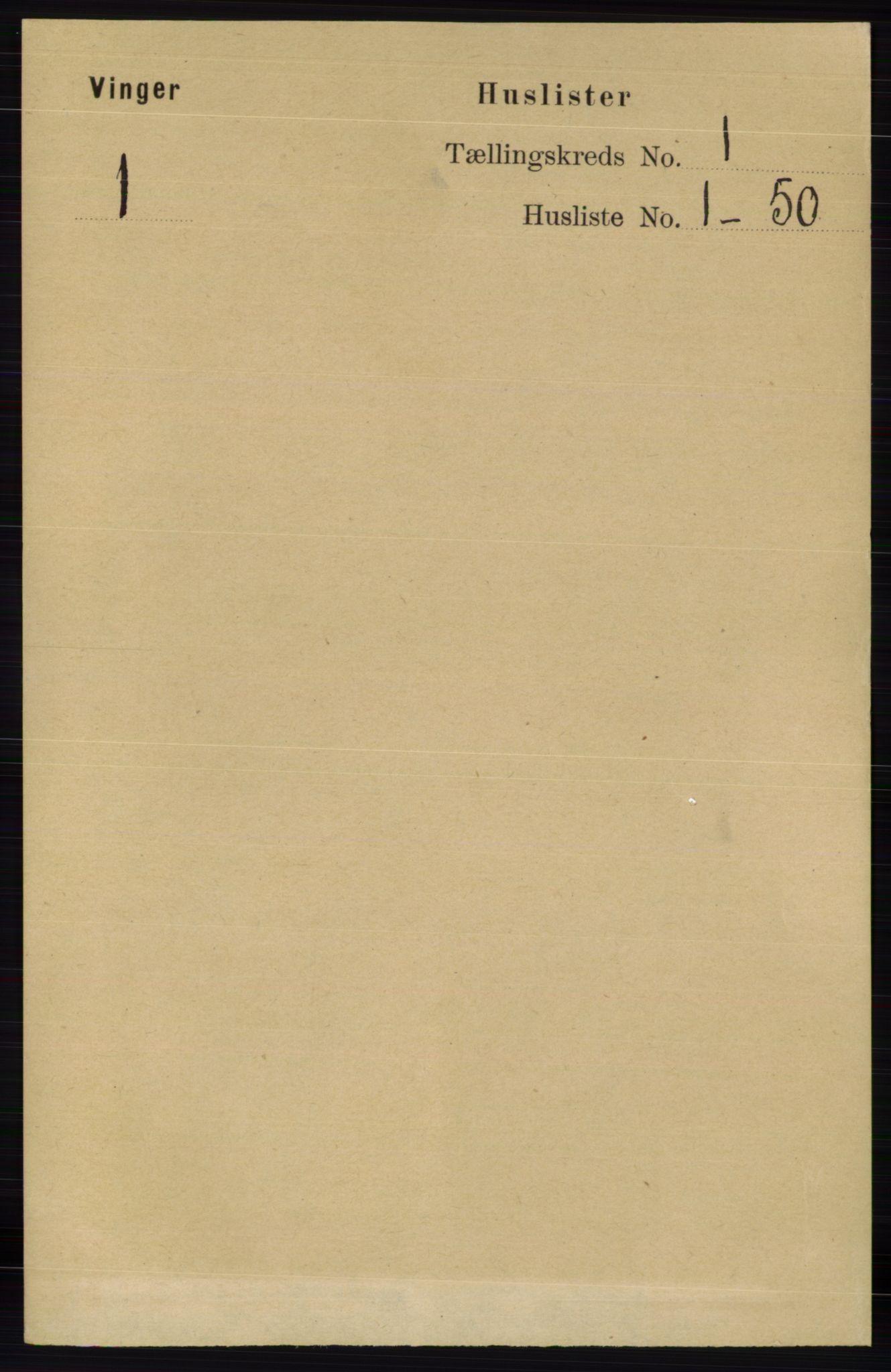 RA, Folketelling 1891 for 0421 Vinger herred, 1891, s. 29