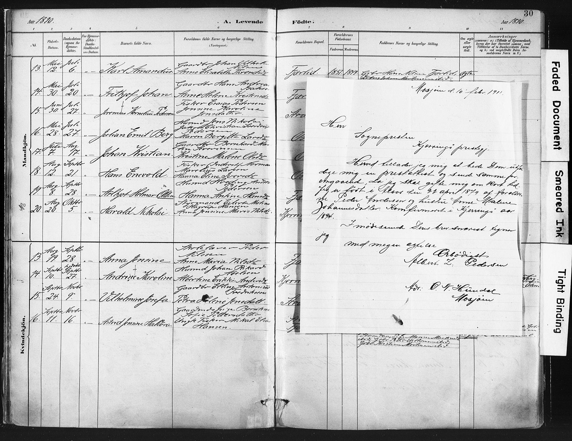 SAT, Ministerialprotokoller, klokkerbøker og fødselsregistre - Nordland, 803/L0071: Ministerialbok nr. 803A01, 1881-1897, s. 30