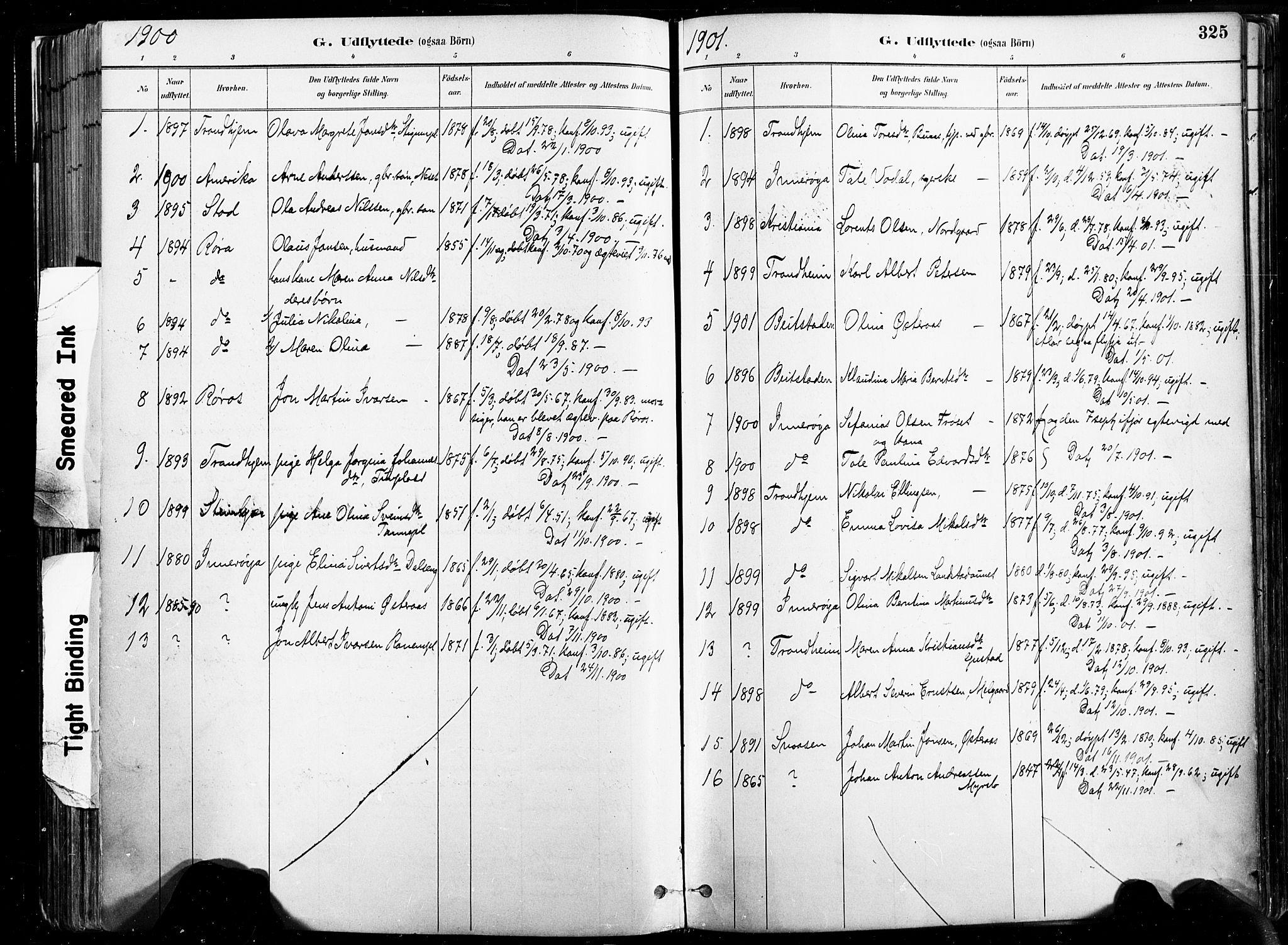 SAT, Ministerialprotokoller, klokkerbøker og fødselsregistre - Nord-Trøndelag, 735/L0351: Ministerialbok nr. 735A10, 1884-1908, s. 325