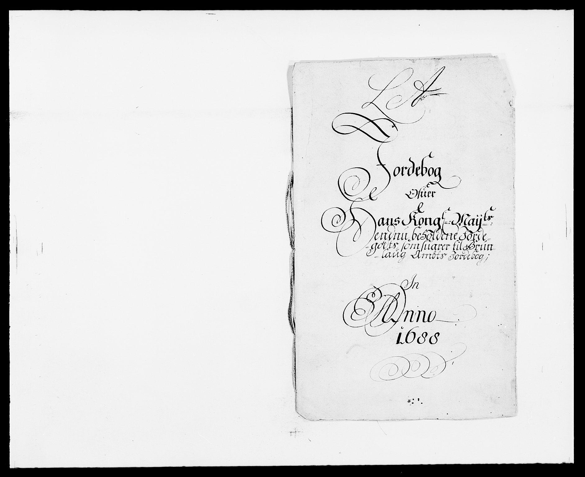 RA, Rentekammeret inntil 1814, Reviderte regnskaper, Fogderegnskap, R33/L1971: Fogderegnskap Larvik grevskap, 1688-1689, s. 27