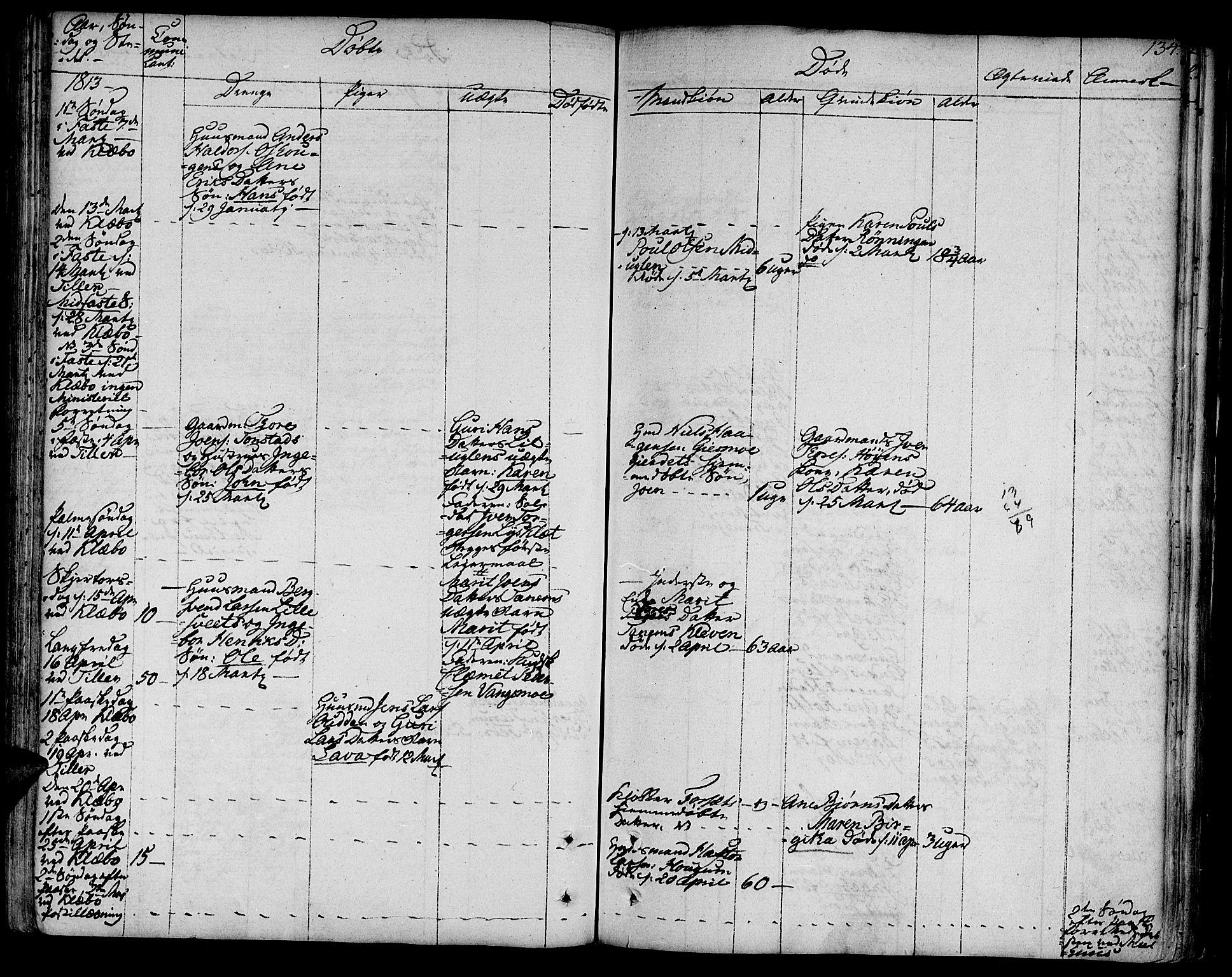SAT, Ministerialprotokoller, klokkerbøker og fødselsregistre - Sør-Trøndelag, 618/L0438: Ministerialbok nr. 618A03, 1783-1815, s. 134