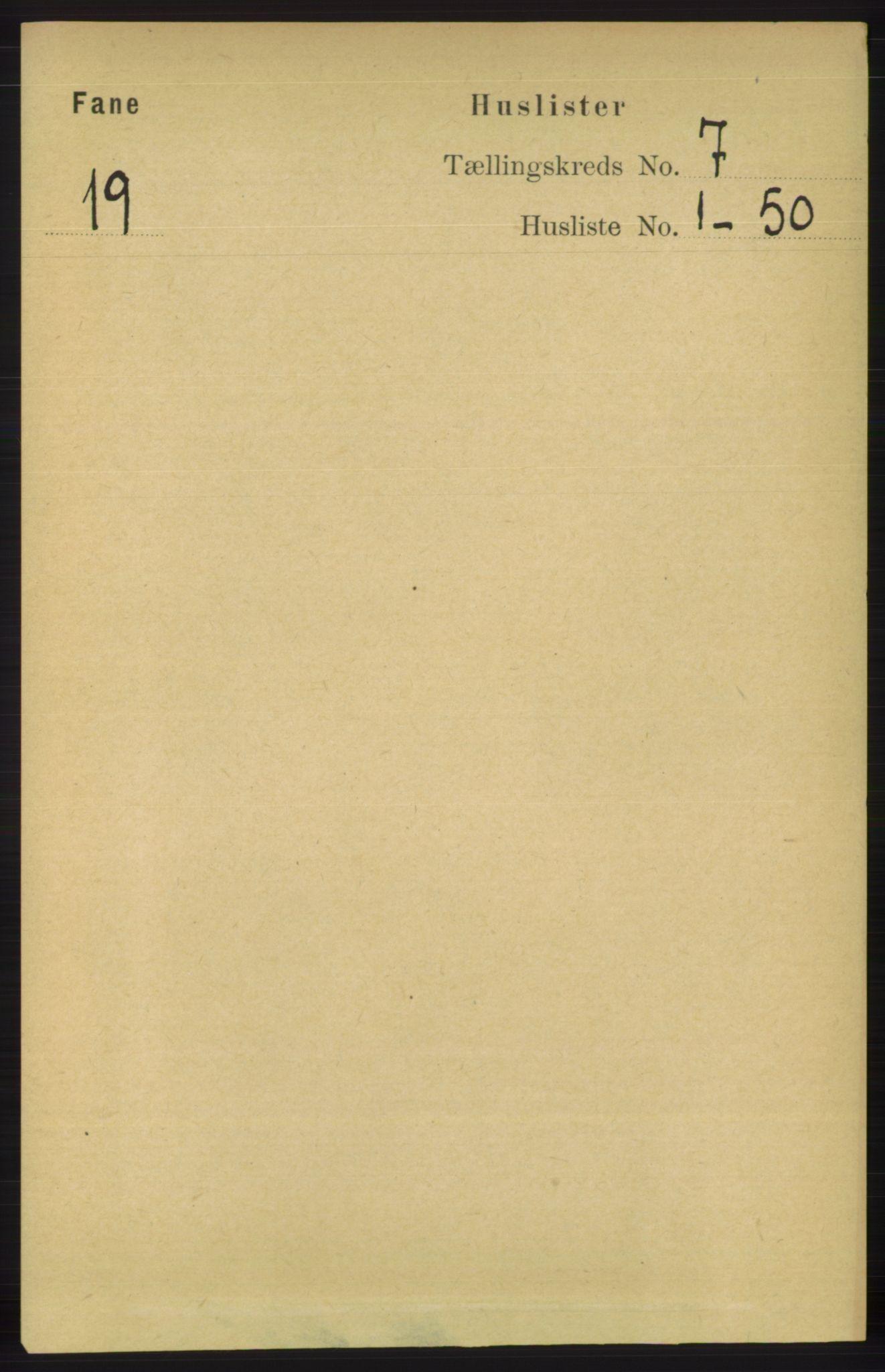 RA, Folketelling 1891 for 1249 Fana herred, 1891, s. 2913