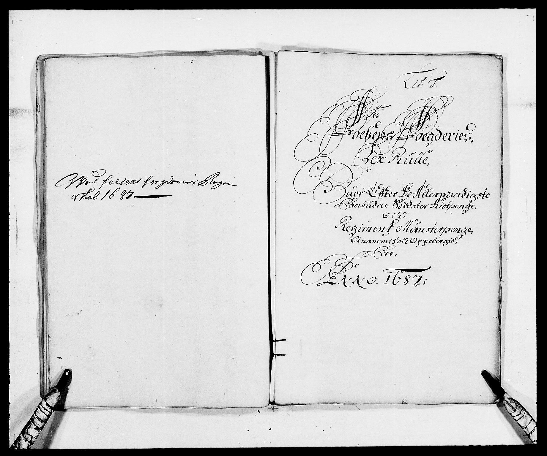 RA, Rentekammeret inntil 1814, Reviderte regnskaper, Fogderegnskap, R57/L3845: Fogderegnskap Fosen, 1687, s. 54