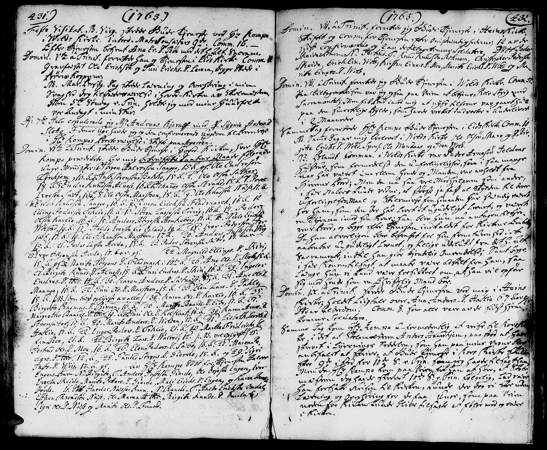 SAT, Ministerialprotokoller, klokkerbøker og fødselsregistre - Møre og Romsdal, 544/L0568: Ministerialbok nr. 544A01, 1725-1763, s. 431-432