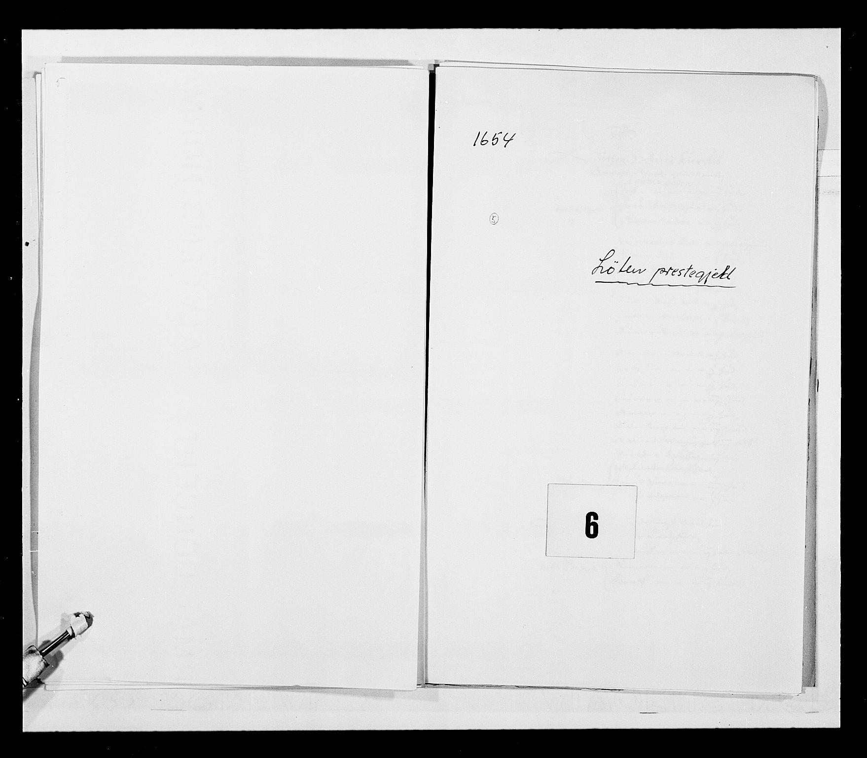 RA, Stattholderembetet 1572-1771, Ek/L0030: Jordebøker 1633-1658:, 1654, s. 16