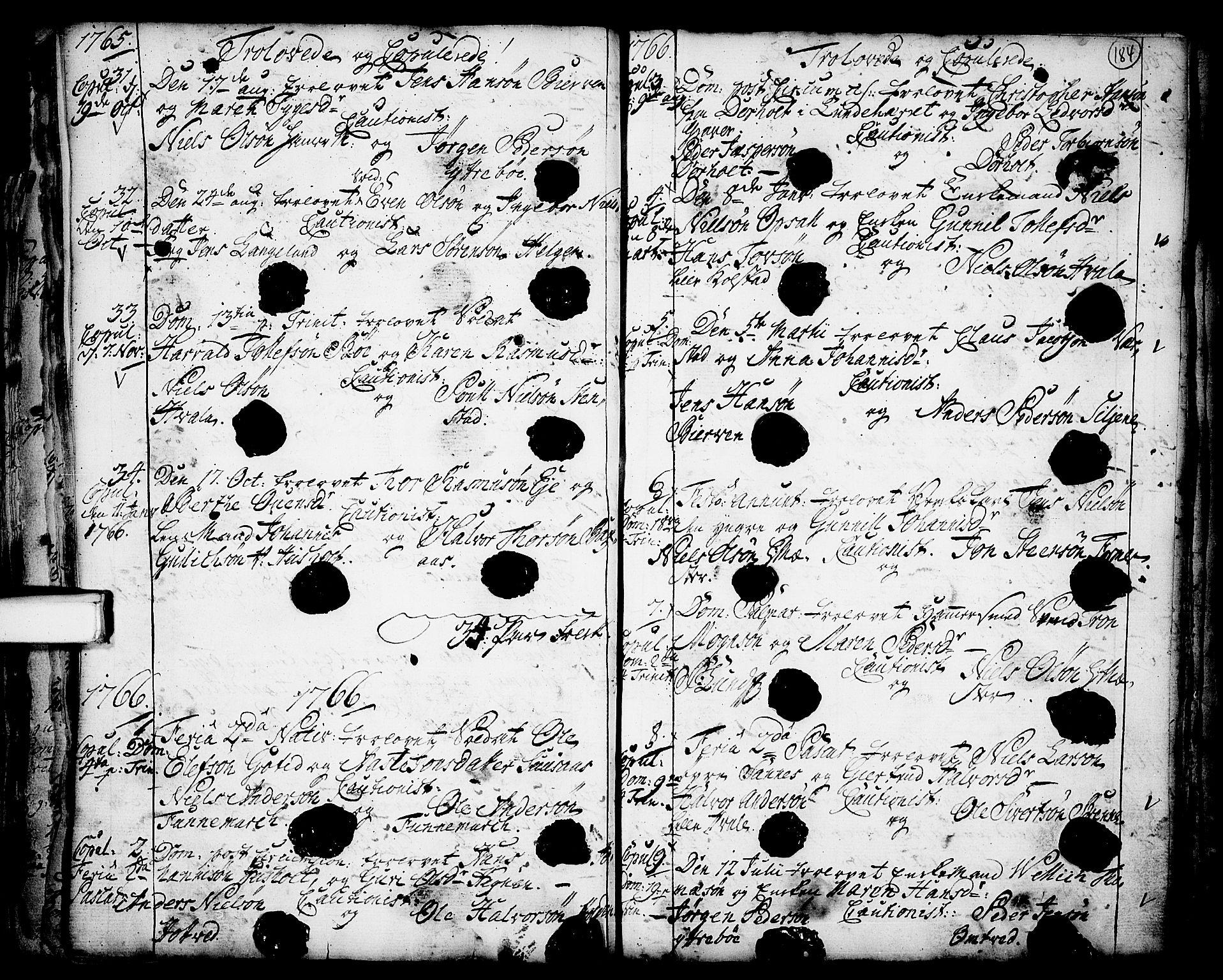 SAKO, Holla kirkebøker, F/Fa/L0001: Ministerialbok nr. 1, 1717-1779, s. 184