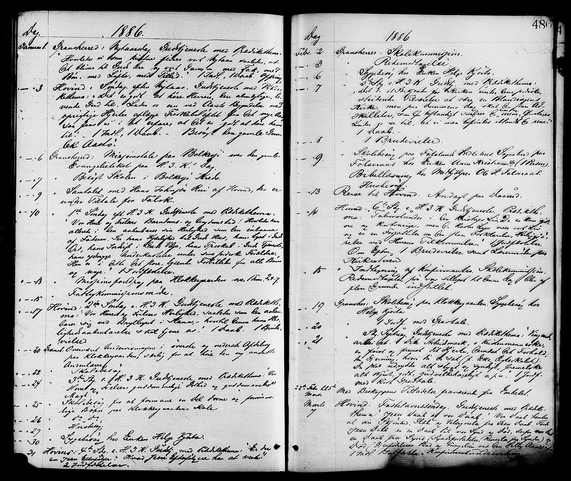 SAKO, Gransherad kirkebøker, F/Fa/L0004: Ministerialbok nr. I 4, 1871-1886, s. 486