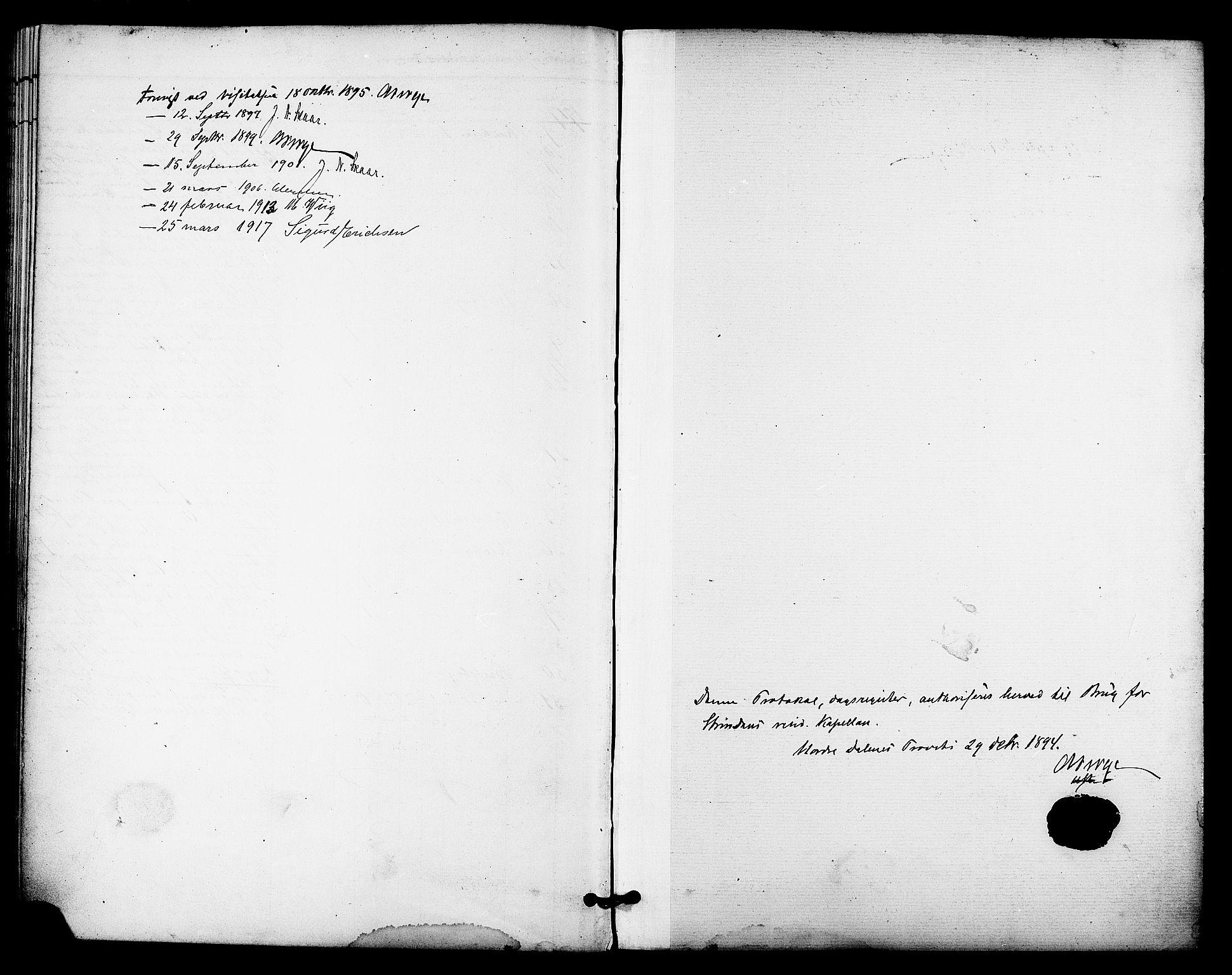 SAT, Ministerialprotokoller, klokkerbøker og fødselsregistre - Sør-Trøndelag, 606/L0304: Residerende kapellans bok nr. 606B03, 1895-1917
